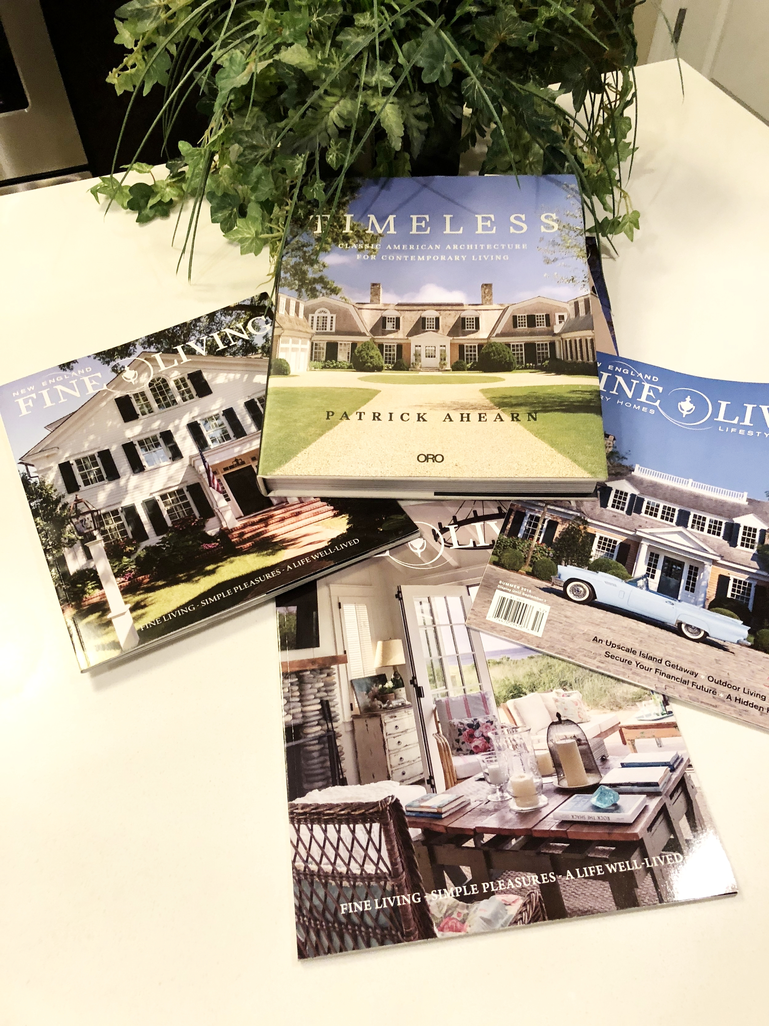 On The Cover - Summer 2015 & 2017 issues and the Spring 2017 issue of New England Fine Living magazines showcase Patrick Ahearns work - Back Copies of these magazines are available  HERE