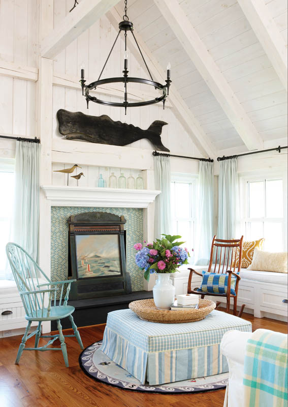 whale painting over fireplace in living room .jpg