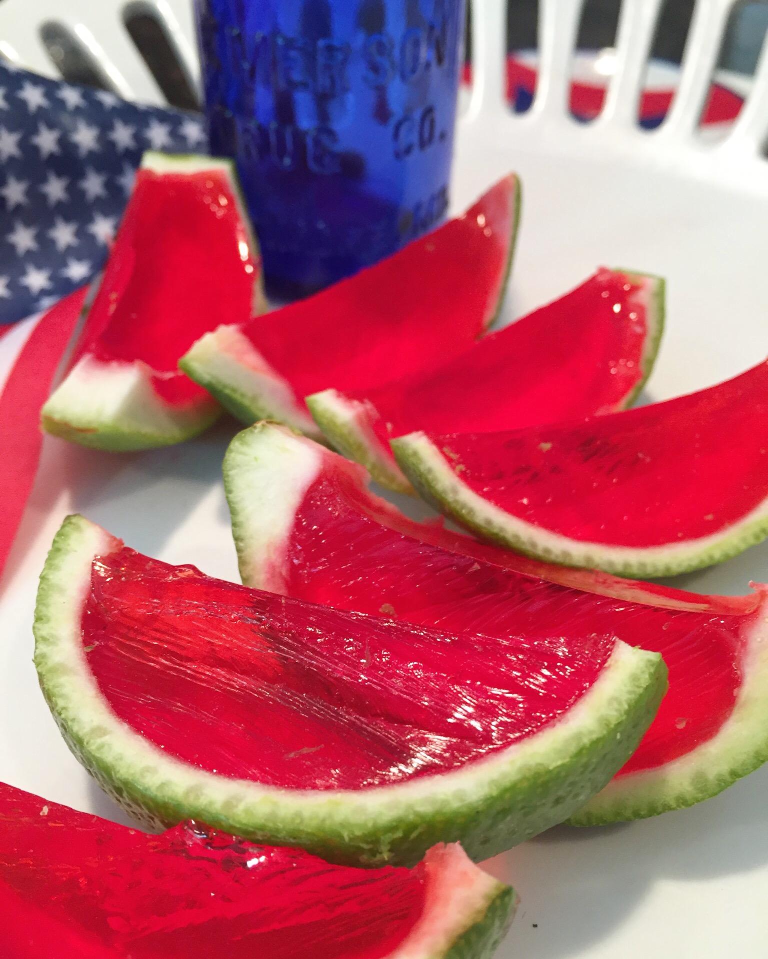 watermelon jello slices in limes