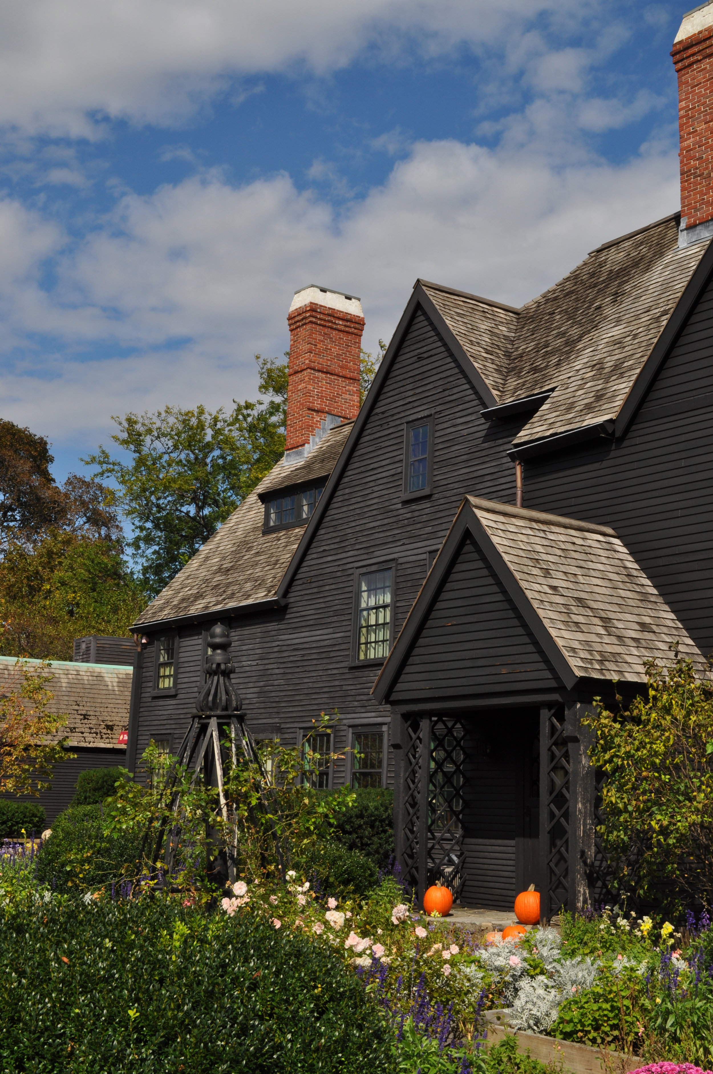 the home in the fall via The House of Seven Gables - Salem, MA