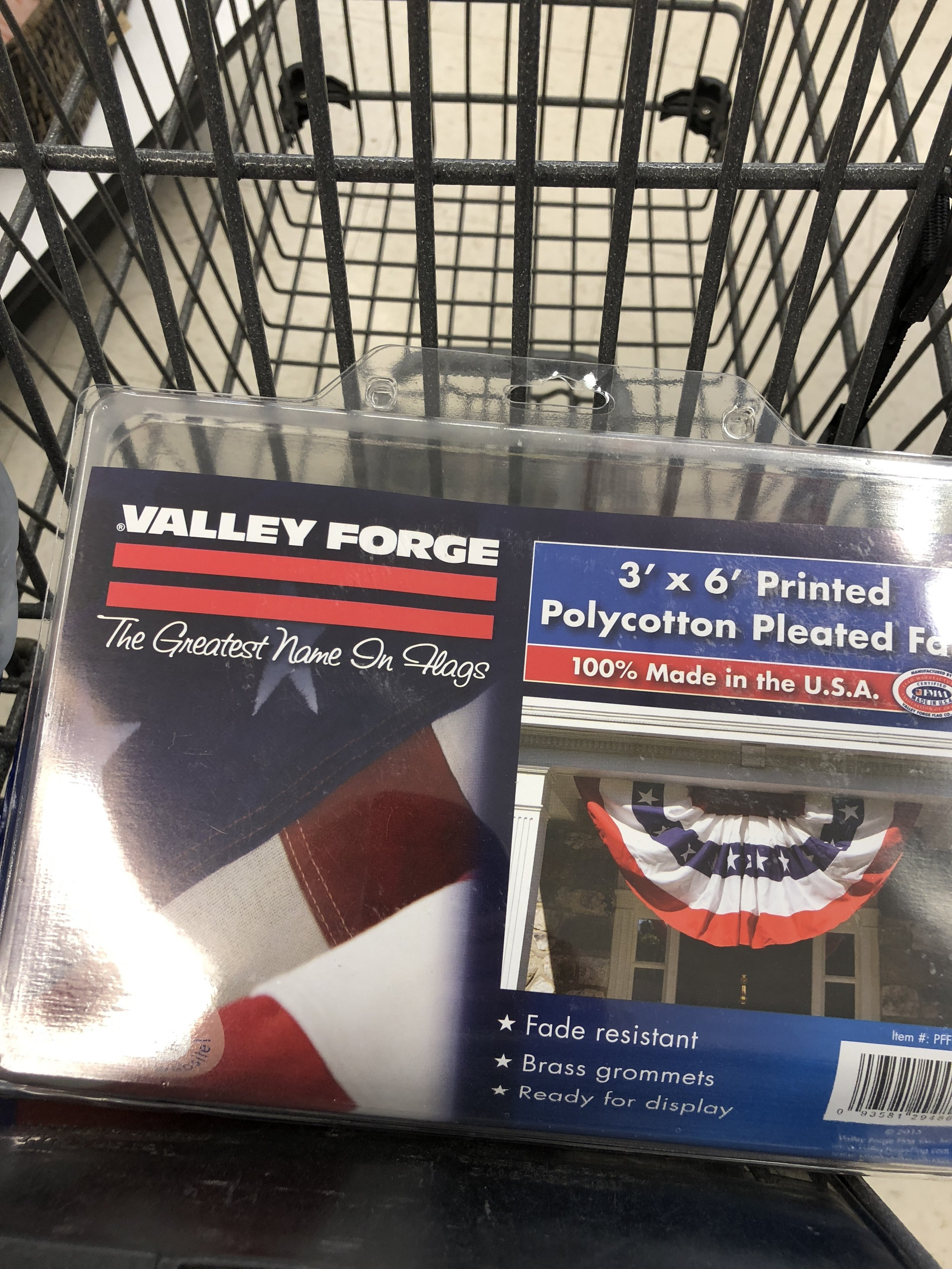 Valley Forge 3 x 6 pleated bunting