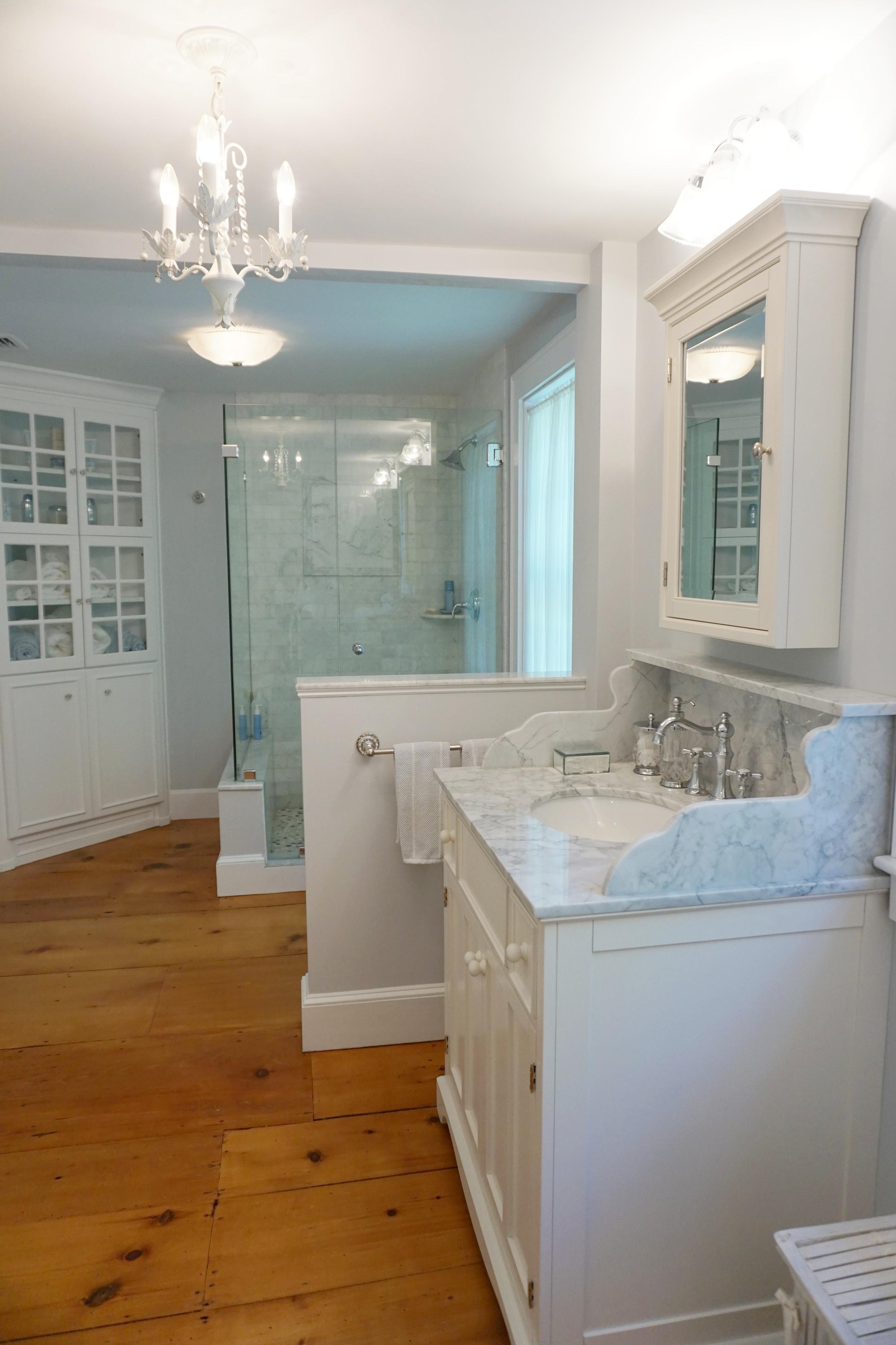 An elegant bathroom found on the second floor.