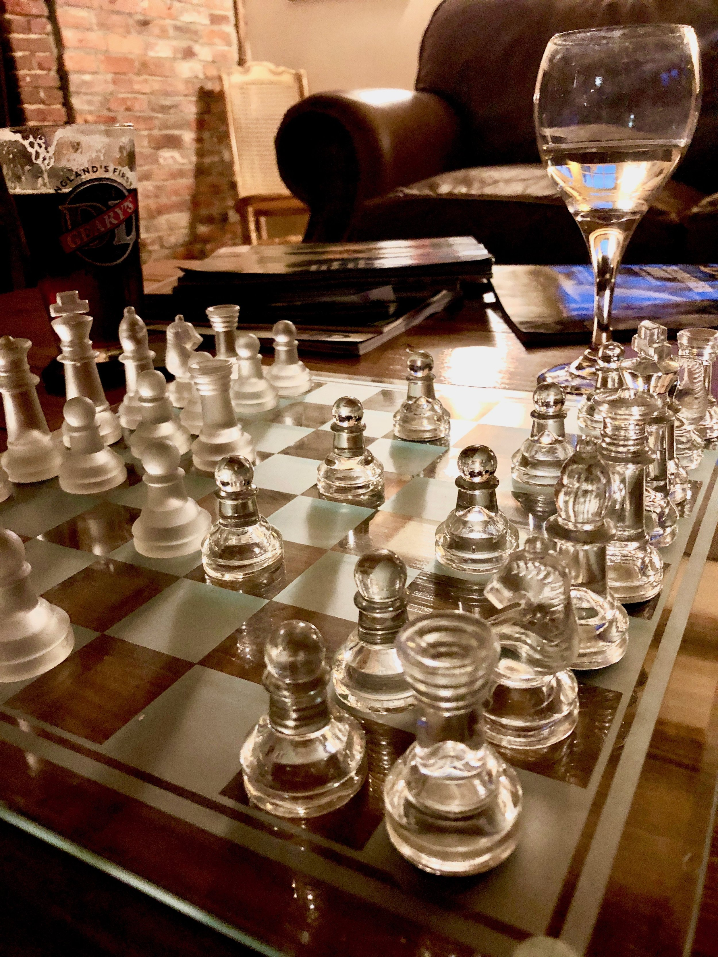 Playing chess is something my husband and I like to do on a rainy night or when we just want to relax. Having played chess all over the world during our travels, I have to admit, playing with  this glass chess set  was a lot of fun since I am used to using wood, plastic, or metal.