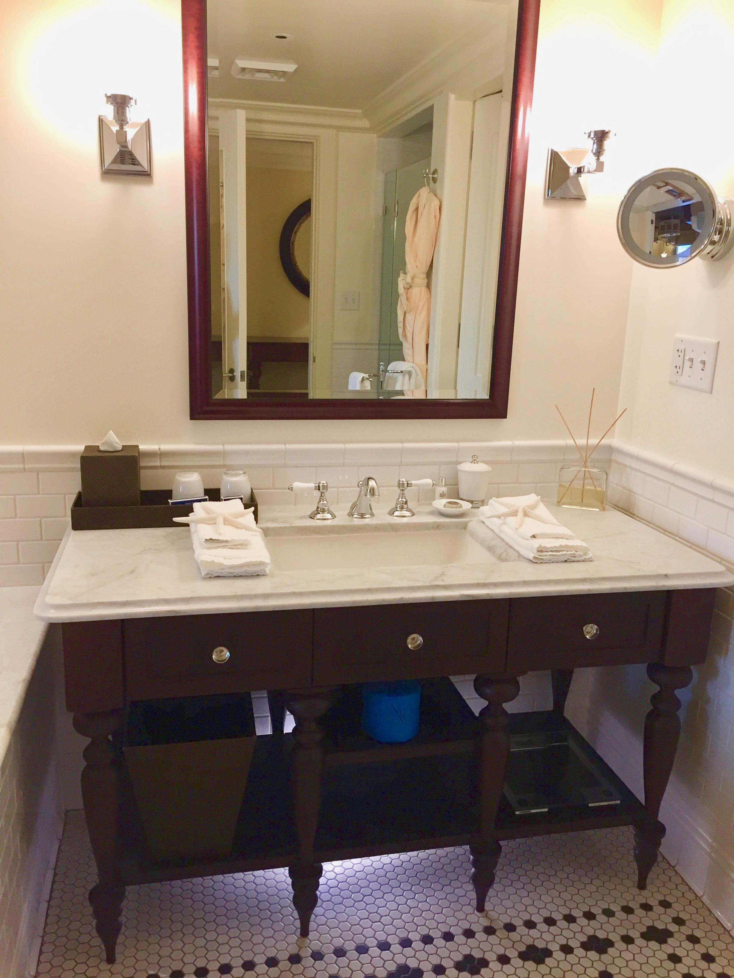 bathroom sink in luxury bathroom