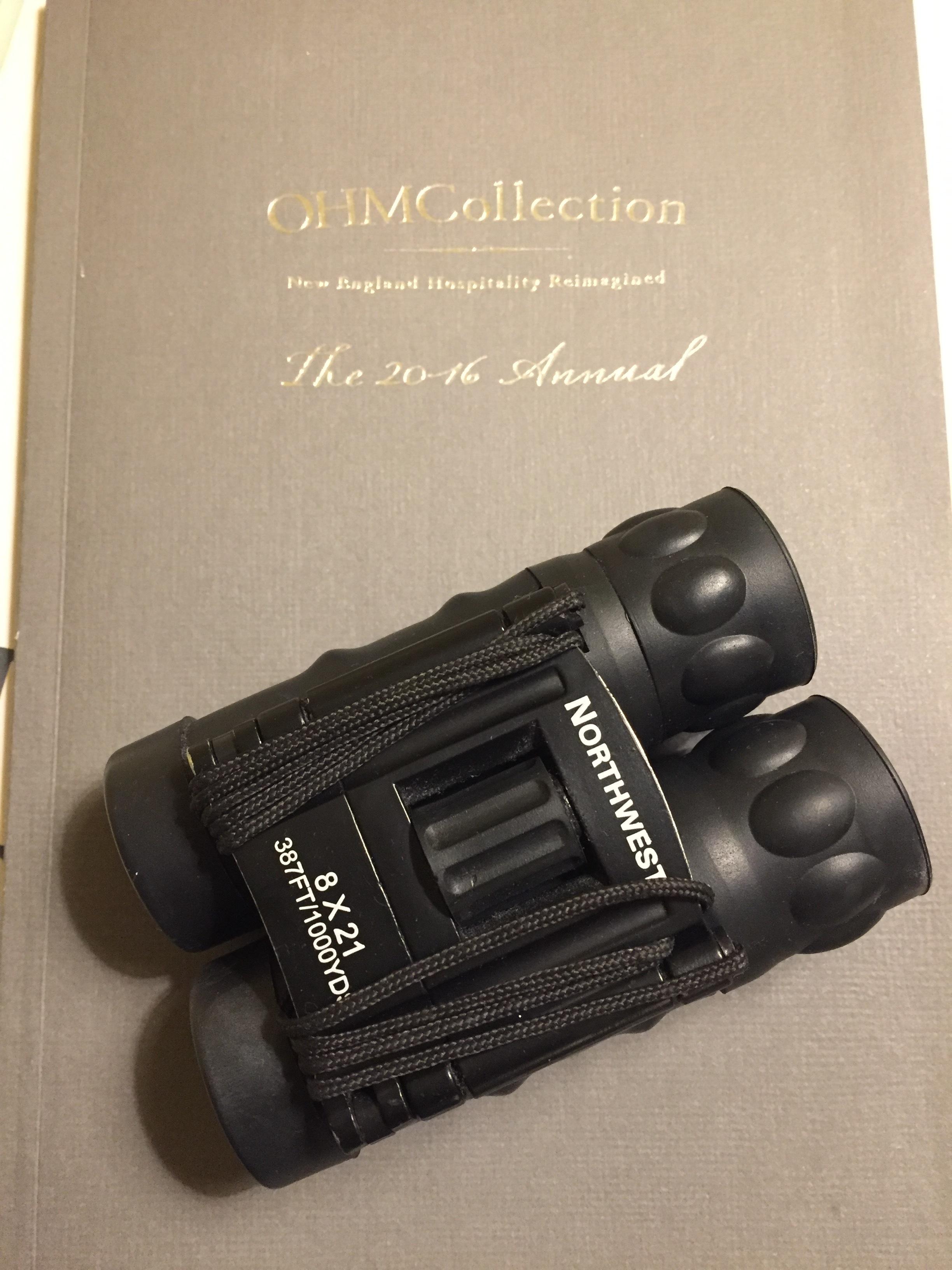 binoculars in room