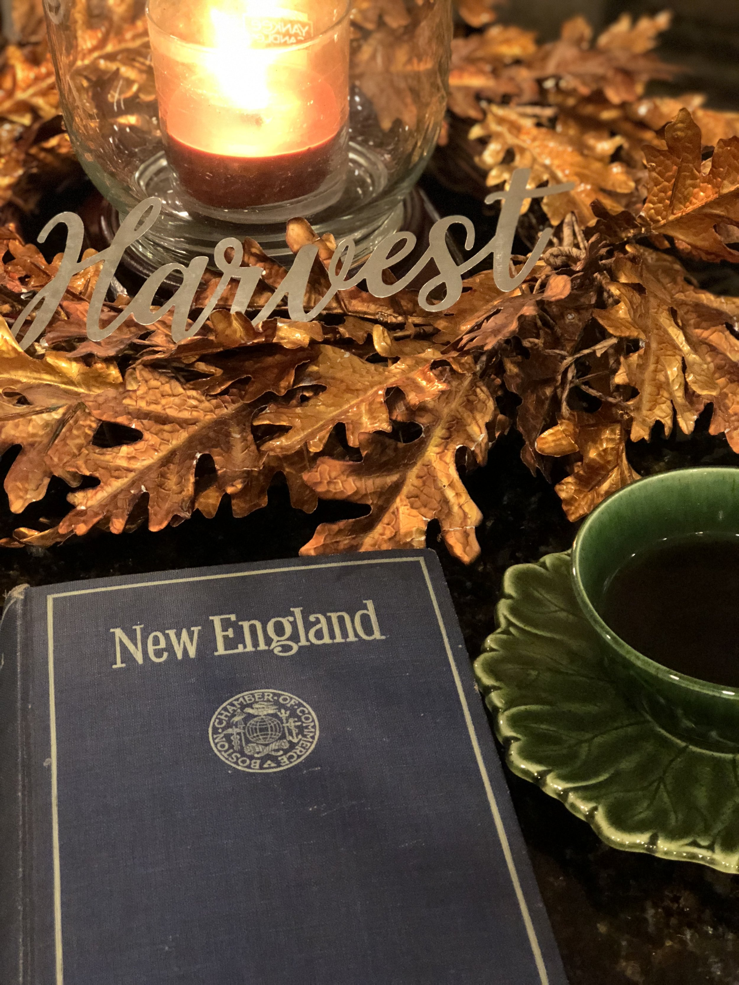 For the third year running, I am burning and enjoying  Yankee Candle's Autumn Wreath . For me, it is the perfect blend of scents that subtly shouts Fall in New England.