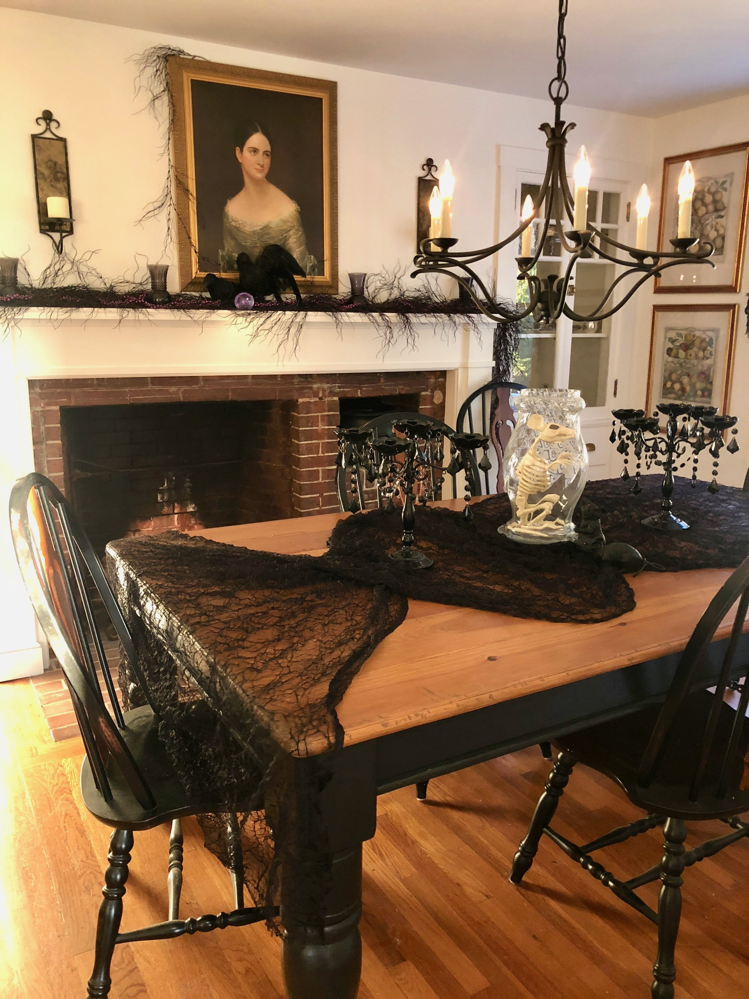 elegant halloween decorations country living dining room