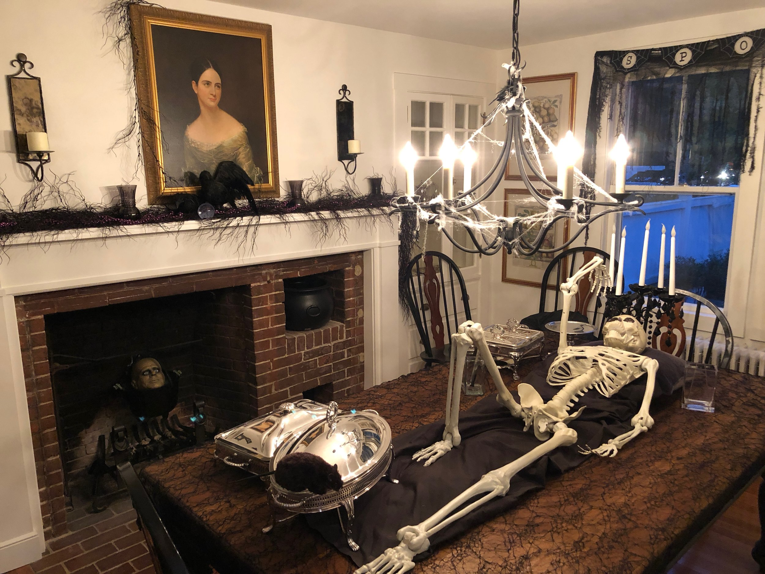 skeleton used for appetizers halloween party