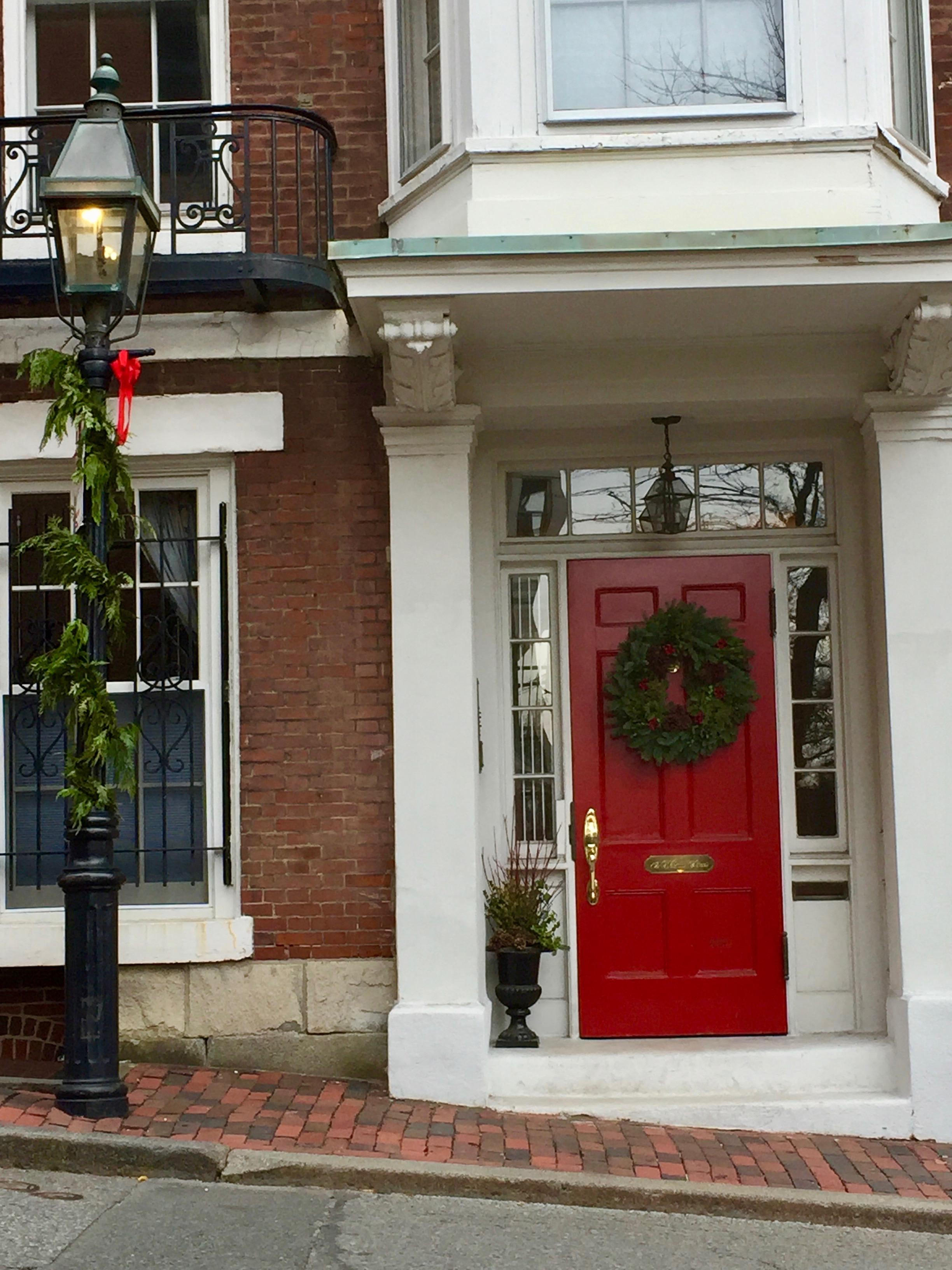 Beacon Hill Boston Christmas Front door.jpg