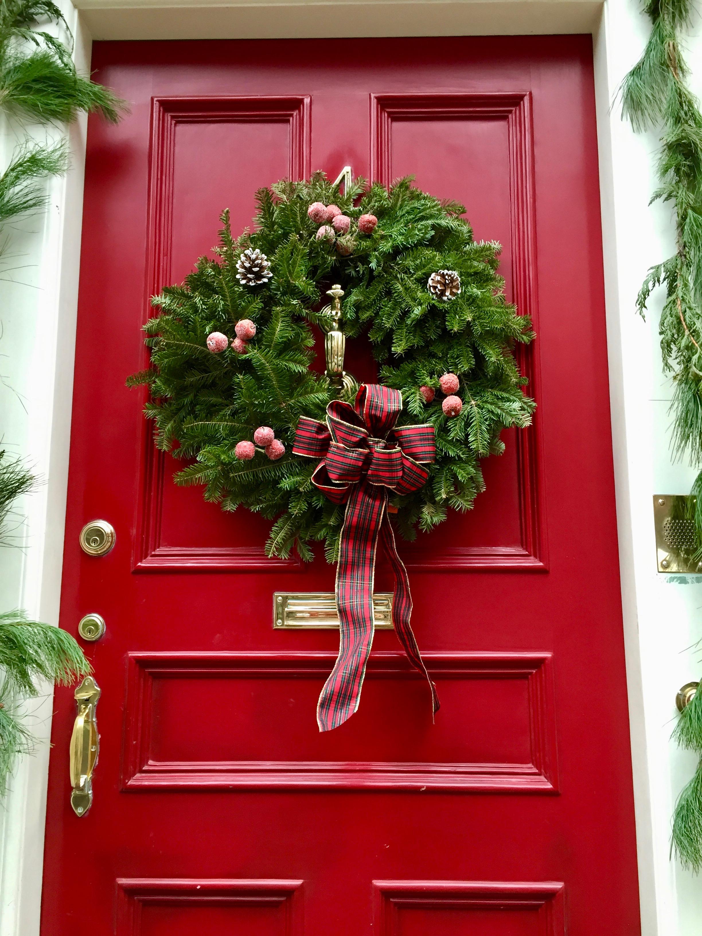 Christmas Wreat Beacon Hill Boston MA  New England .jpg