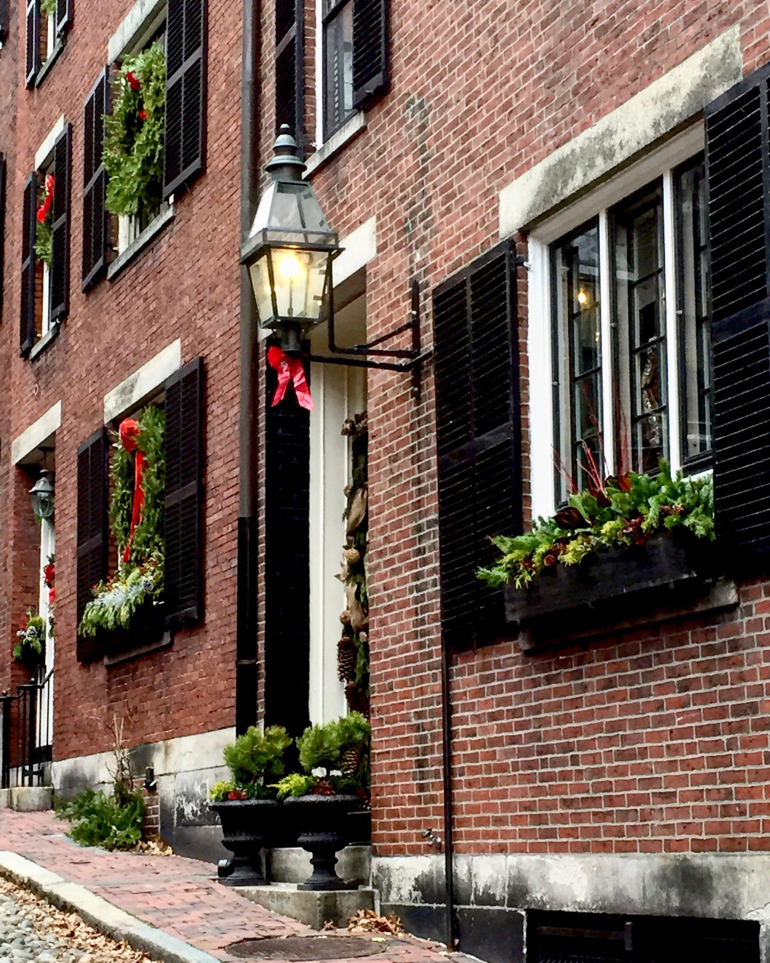 Beacon Hill Boston MA Christmastime