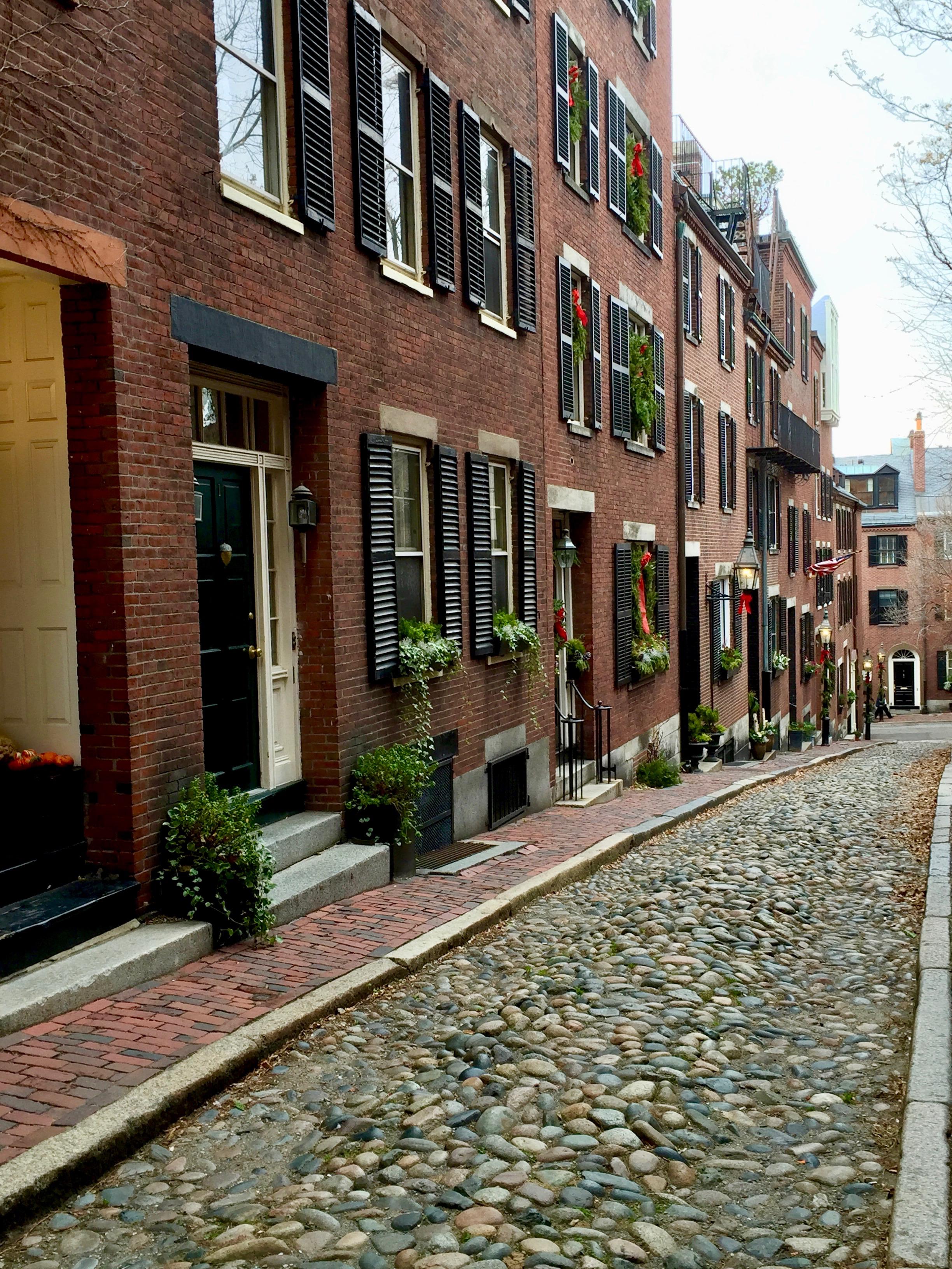 Acorn Street Boston MA Beacon Hill New England