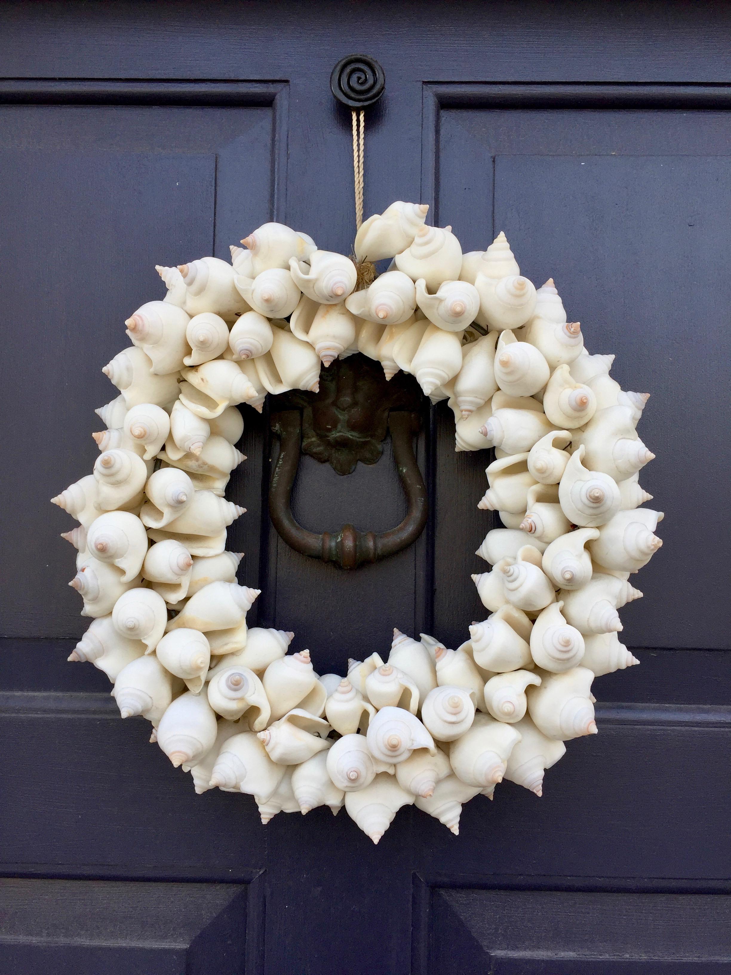 Shell wreath Wickford Rhode Island New England