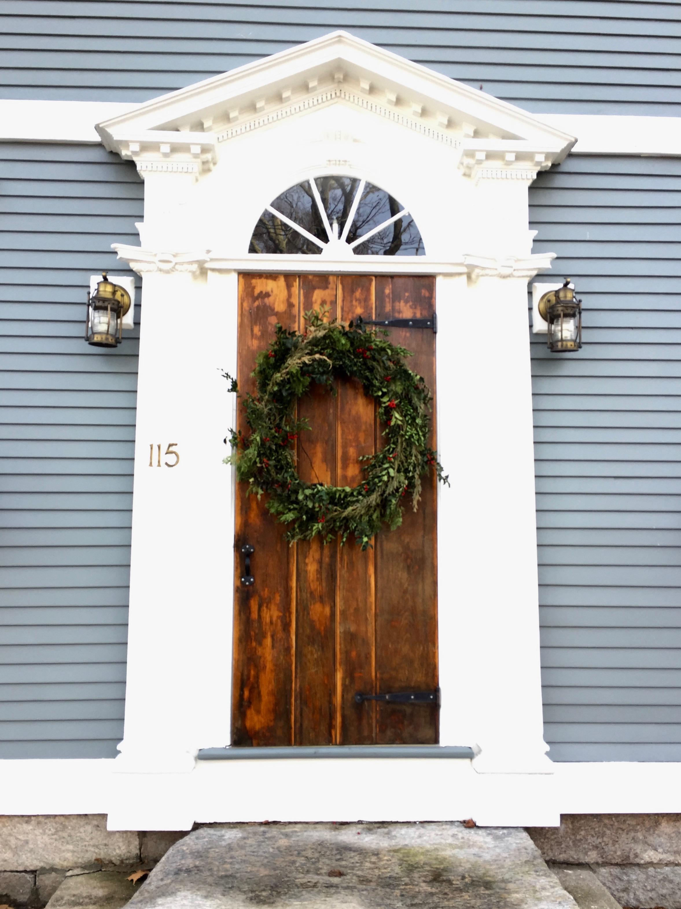 Door fan light Wickford Rhode Island antique home