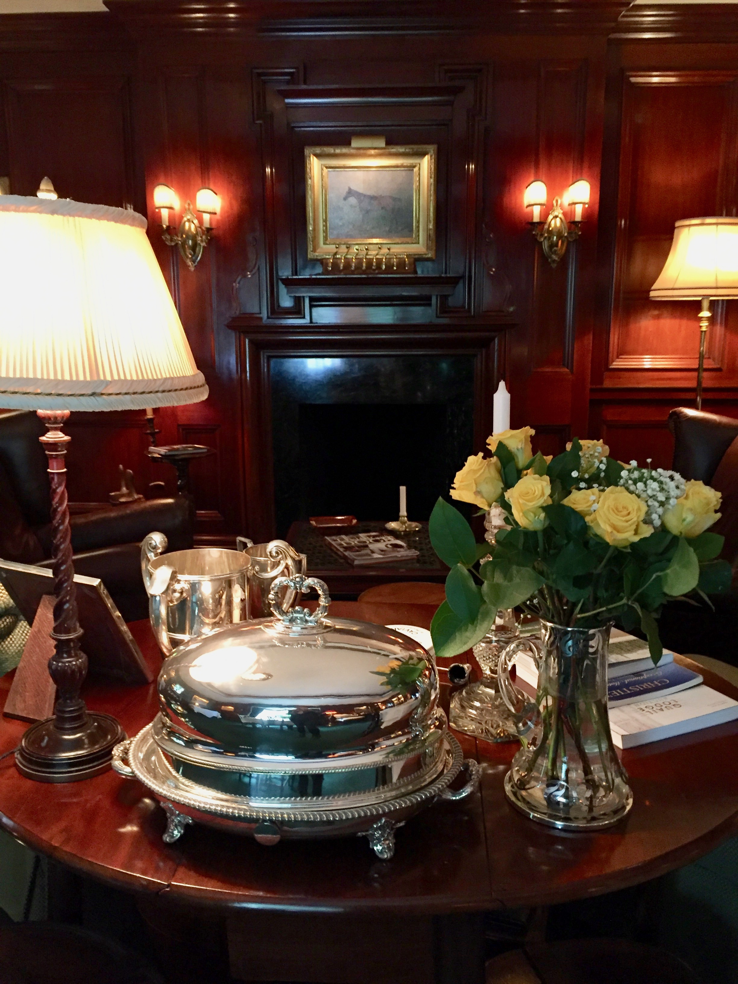 Equestrian theme Charlotte Inn with New England Fine Living