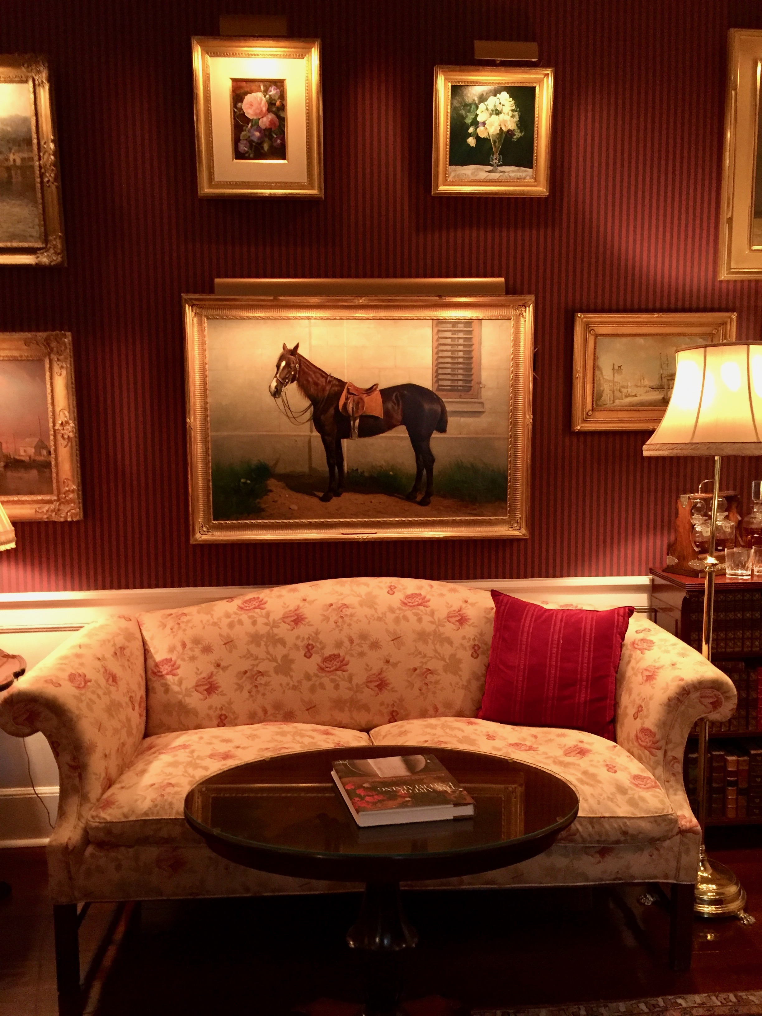 Equine Paintings at the Charlotte Inn New England Fine Living