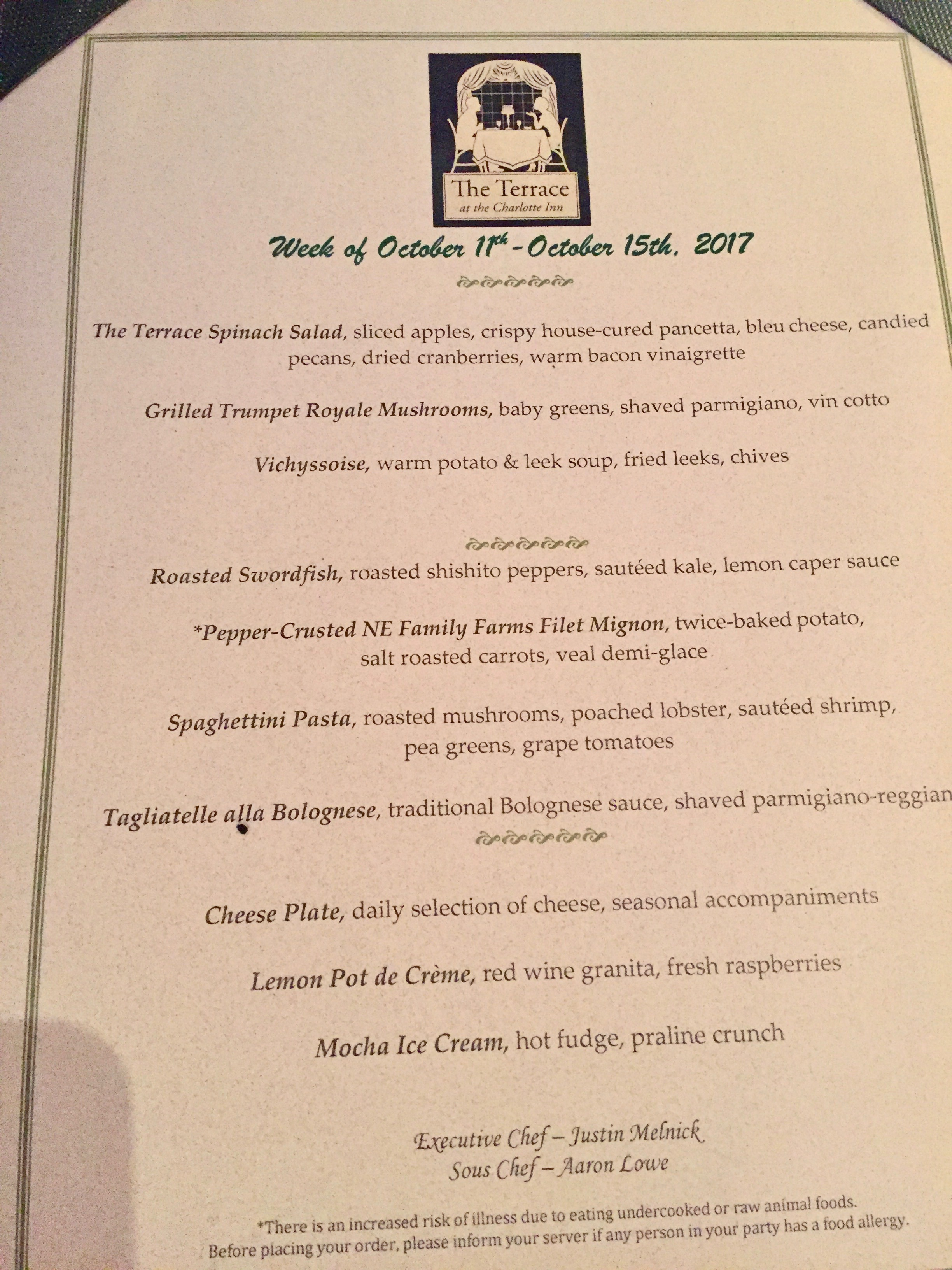 Dining at the Charlotte Inn with New England Fine Living