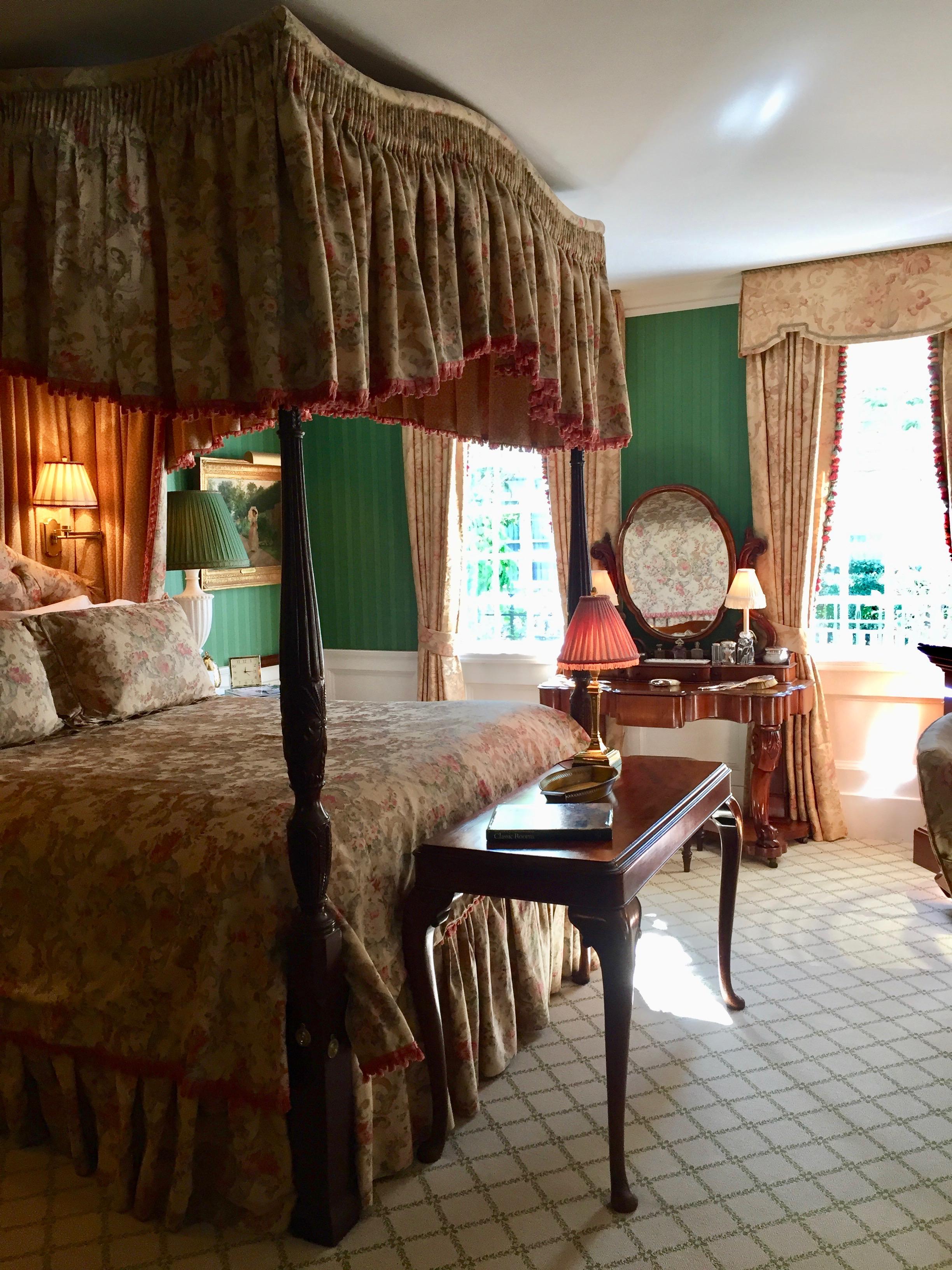 Bedroom at The Charlotte Inn on Martha's Vineyard New England Fine Living