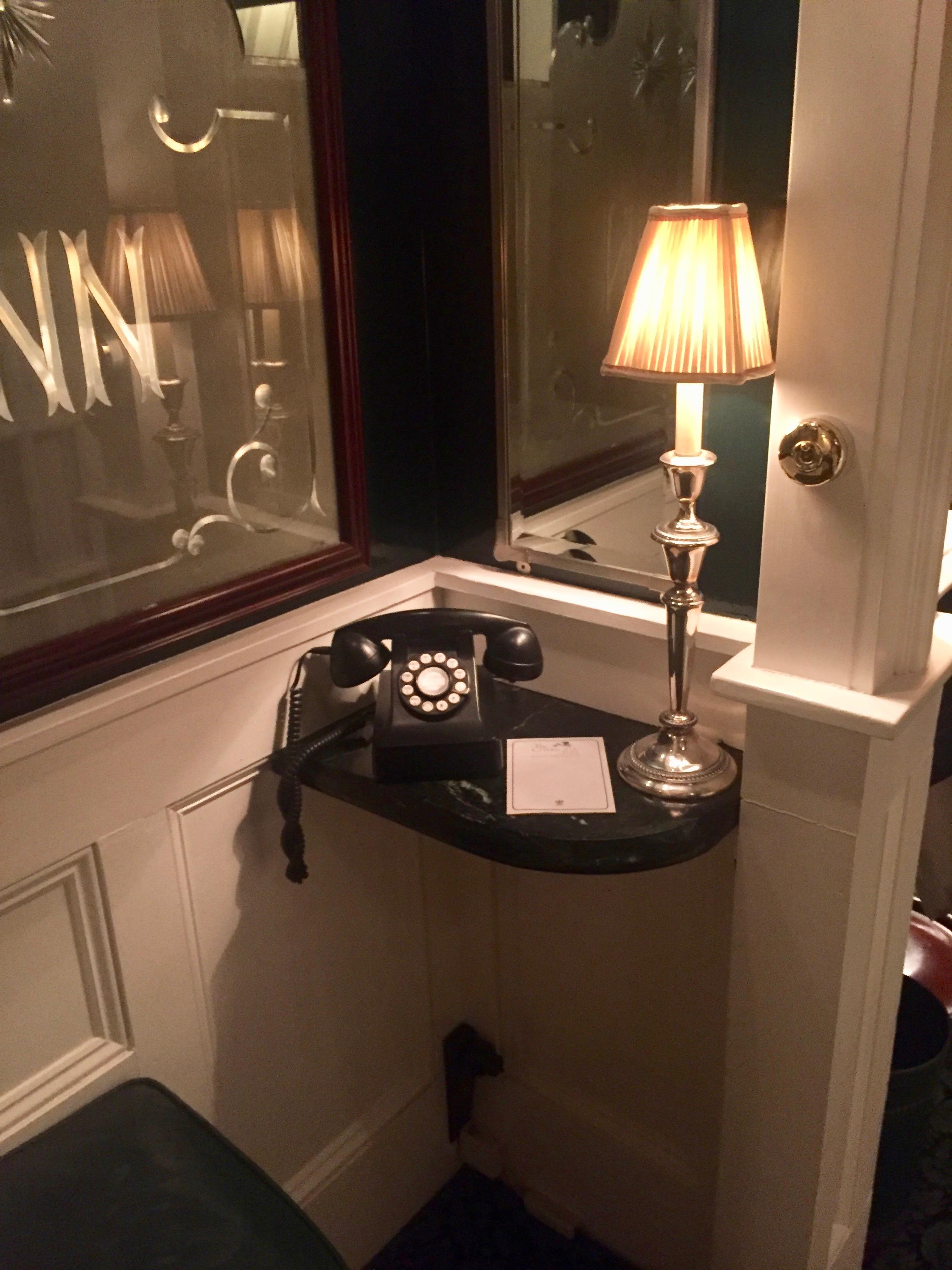 old phones at Charlotte Inn