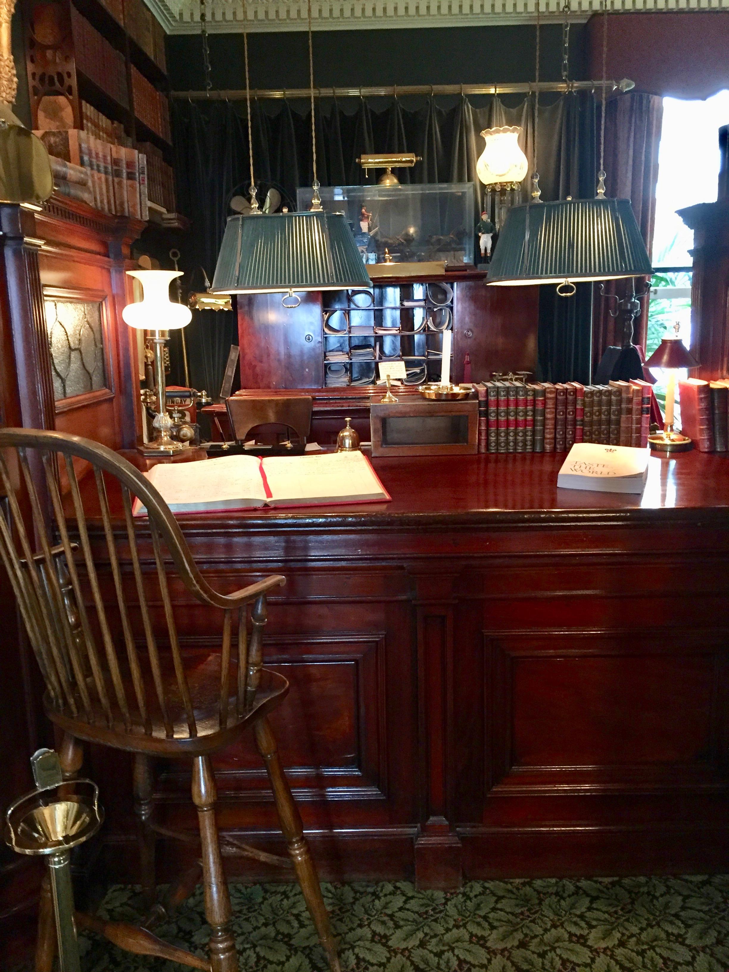 Front Desk at Charlotte Inn on Martha's Vineyard New England Fine Living