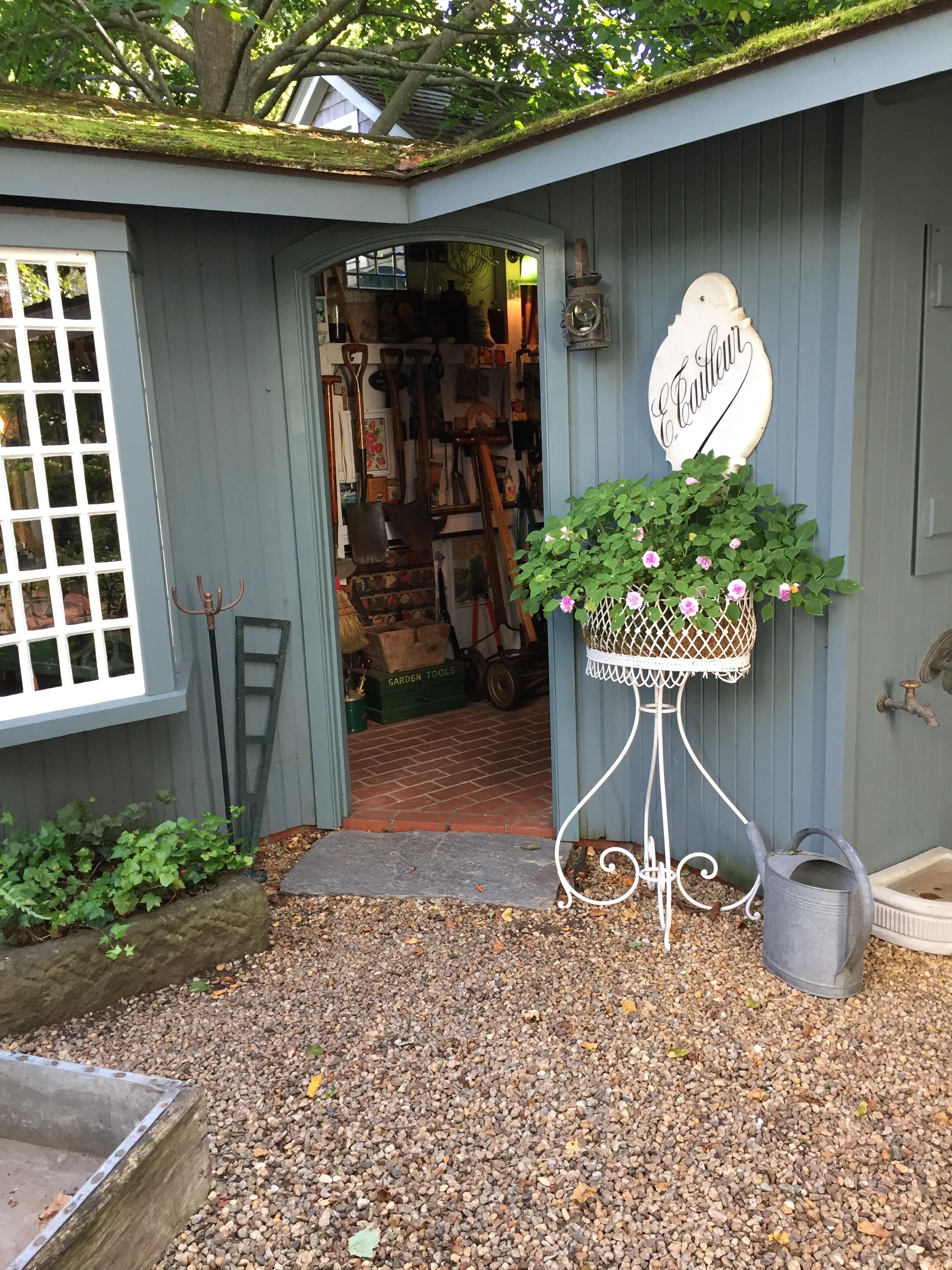 garden shed at Charlotte Inn Edgartown Martha's Vineyard New England Fine Living