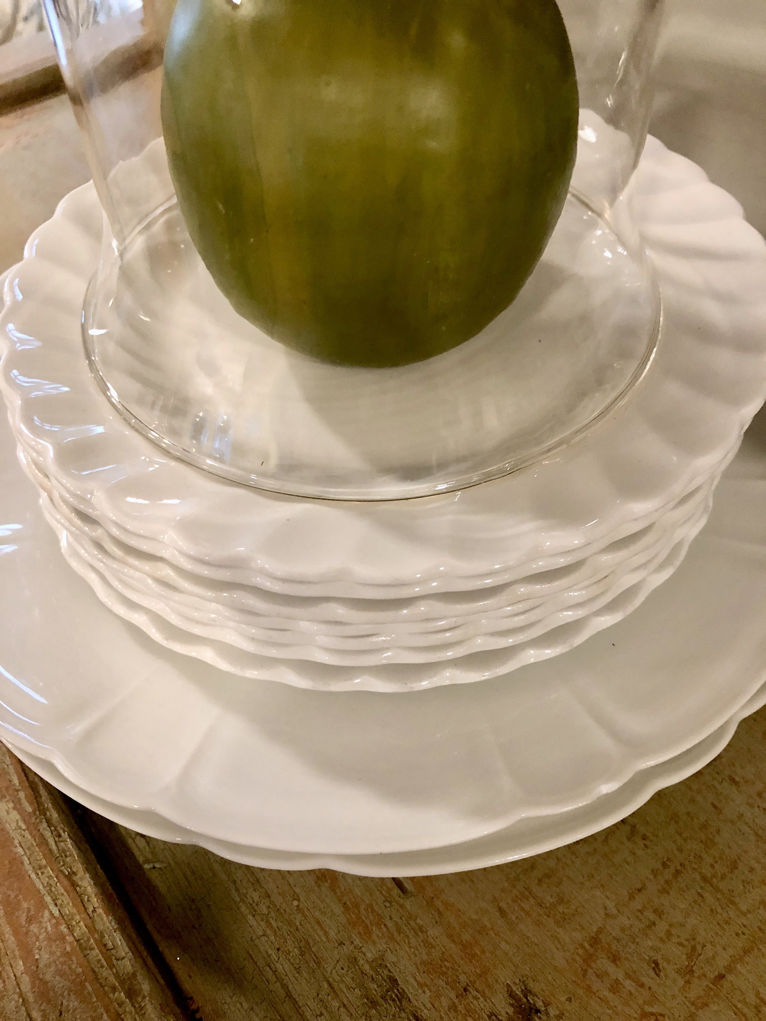 Ironstone plates and Limoges plates