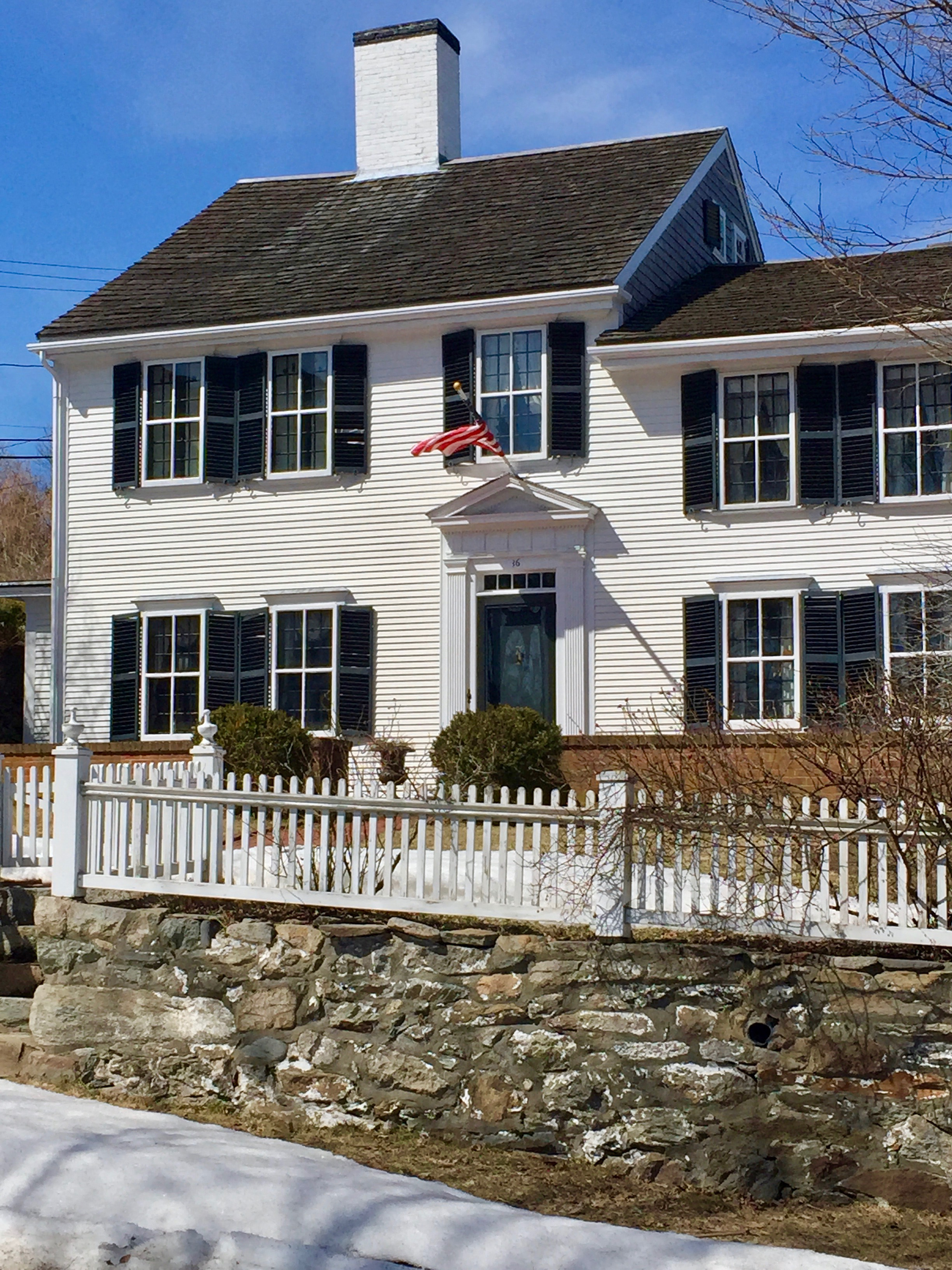 white home green shutters green door white center chimney with black cap Plymouth MA.jpg