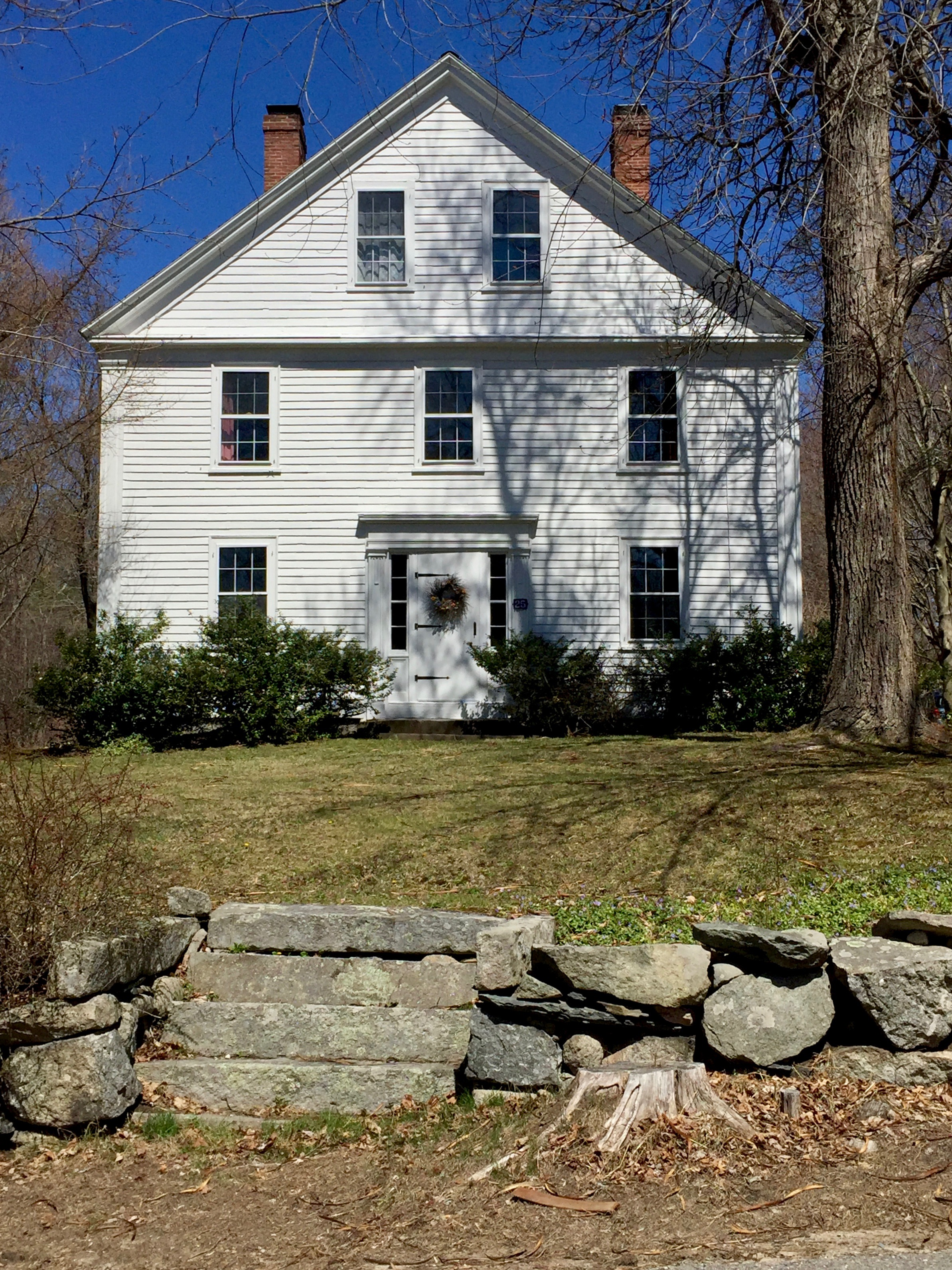 harvard MA white antique historic home New England granite stairs.jpg