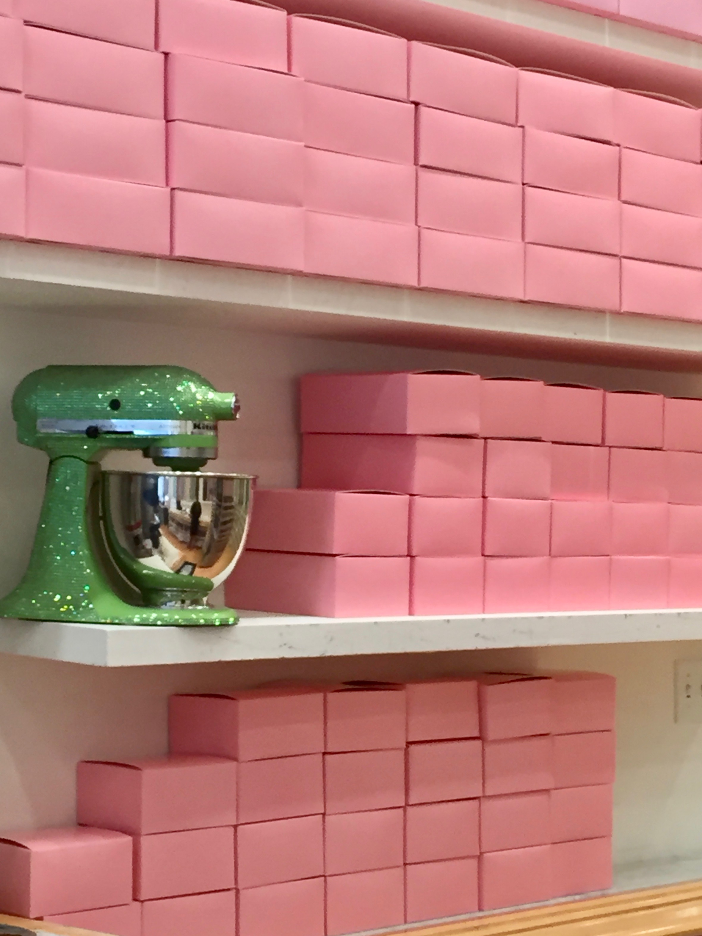 Georgetown Cupcake pink boxes green sparkle mixer.jpg