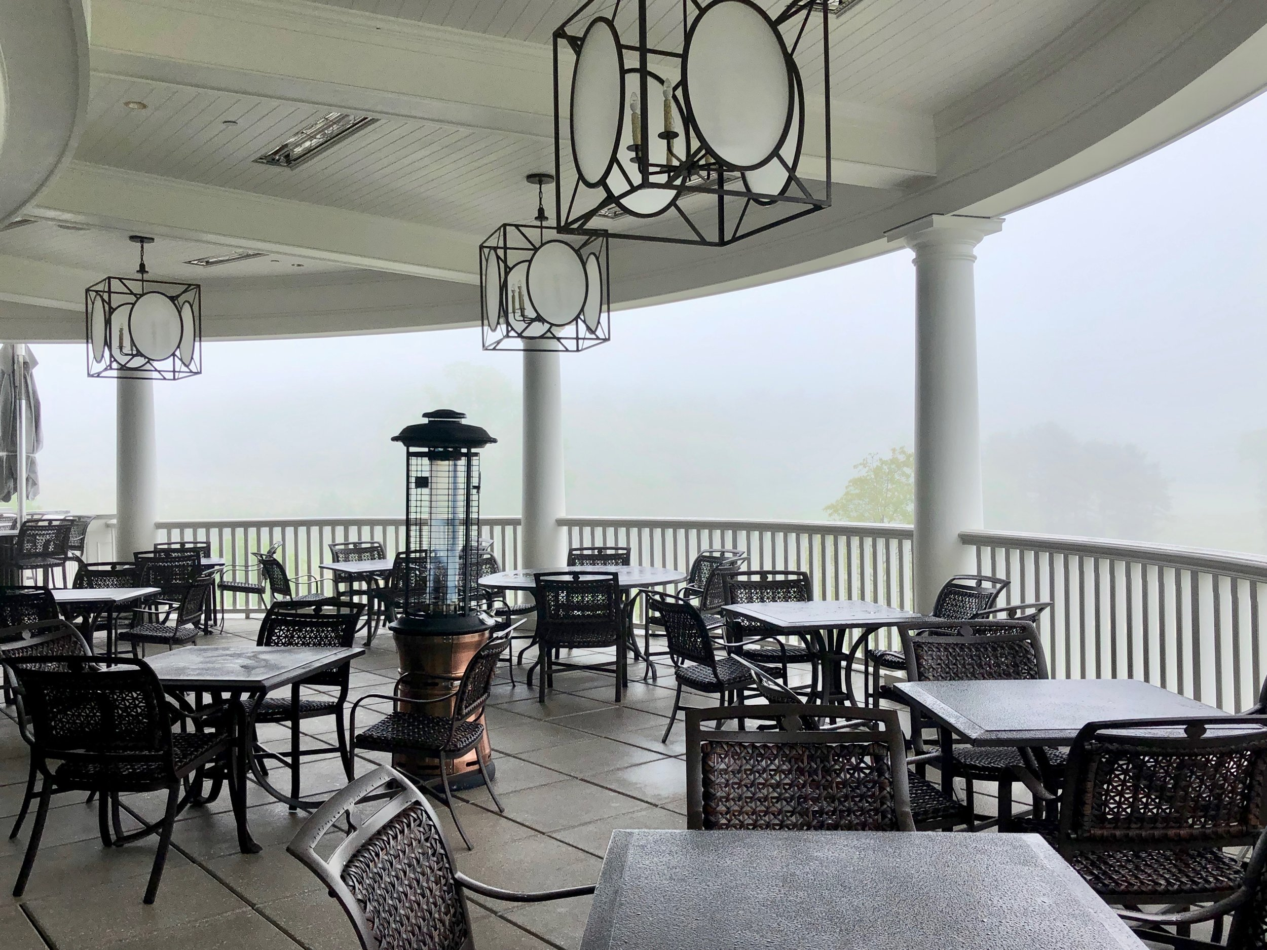 The heated terrace of At Grille 19