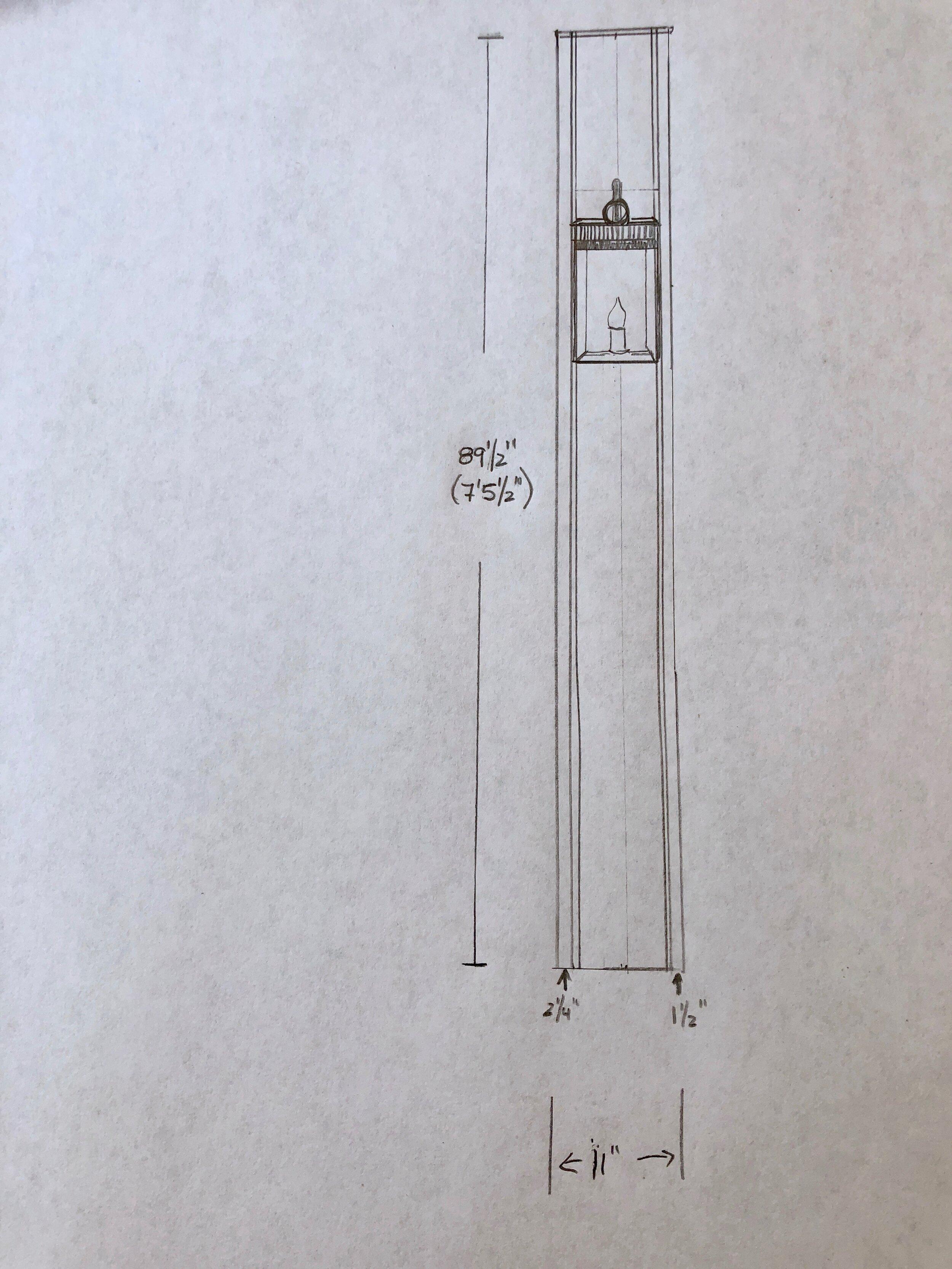 lantern sketch for New England home