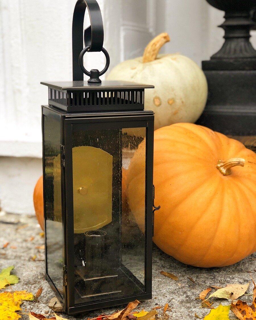 Oiled Bronze Lantern New England