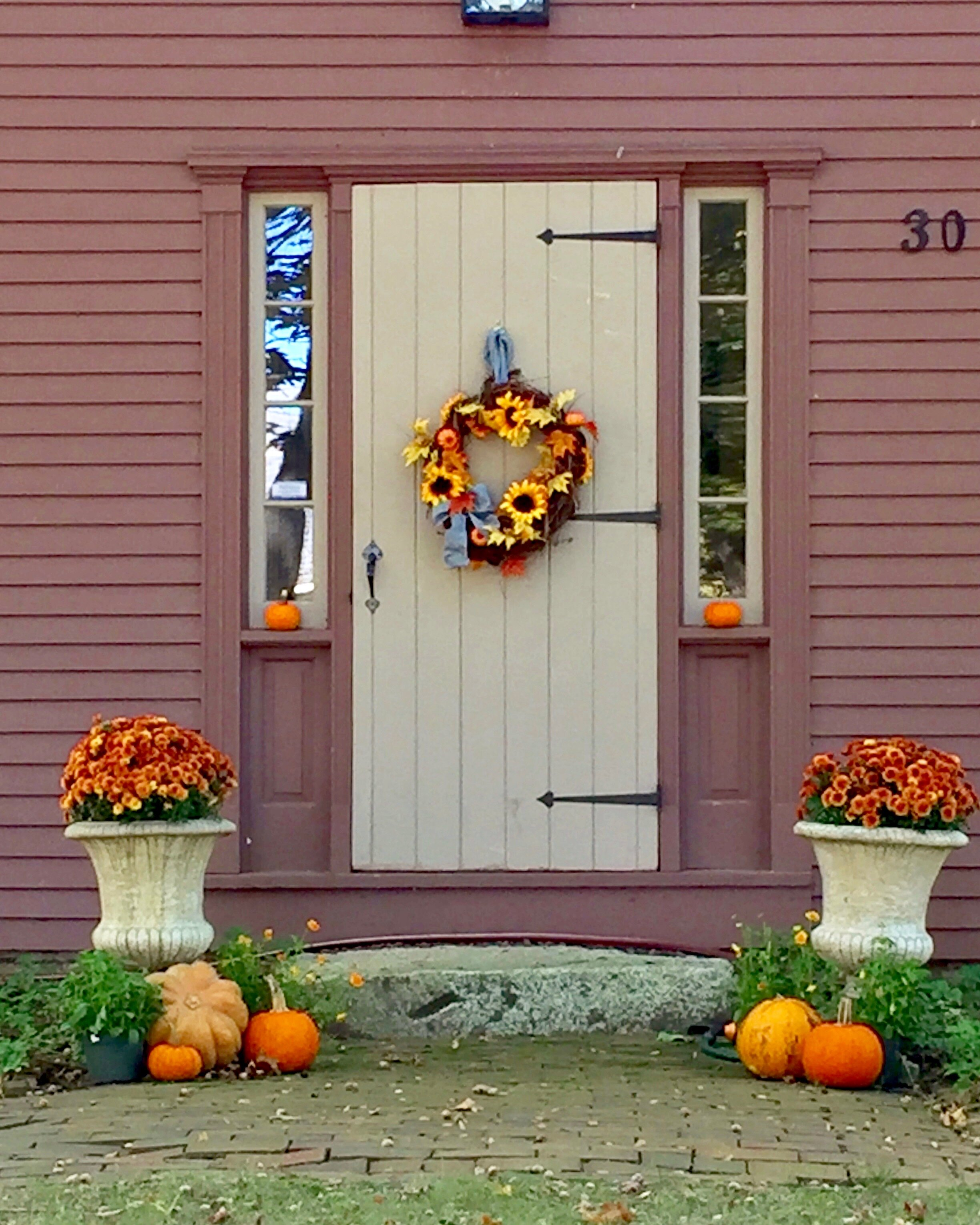 a home dressed up for fall Harvard Massachusetts