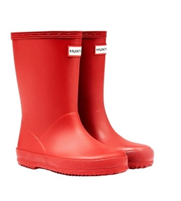 Hunter, Original Kids First Classic Wellington Boots: Military Red, £35