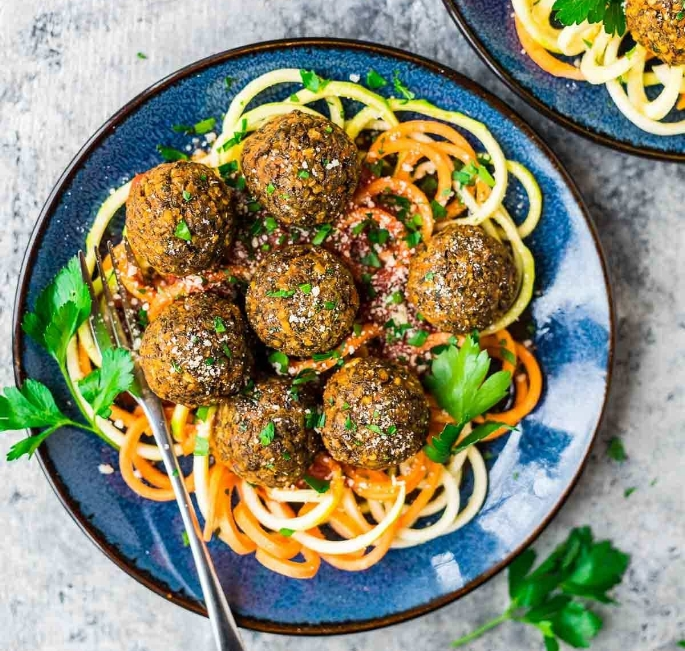 Recipe:  https://www.wellplated.com/lentil-meatballs/