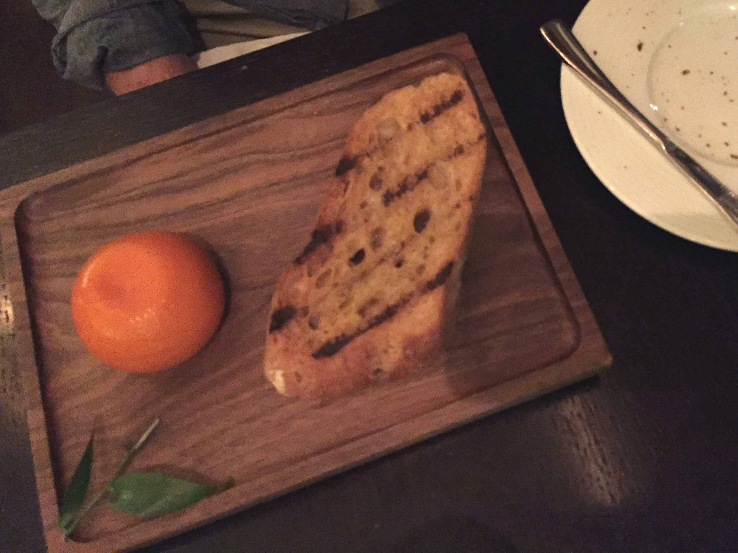 Meat Fruit (c.1500)Mandarin, chicken liver parfait & grilled bread