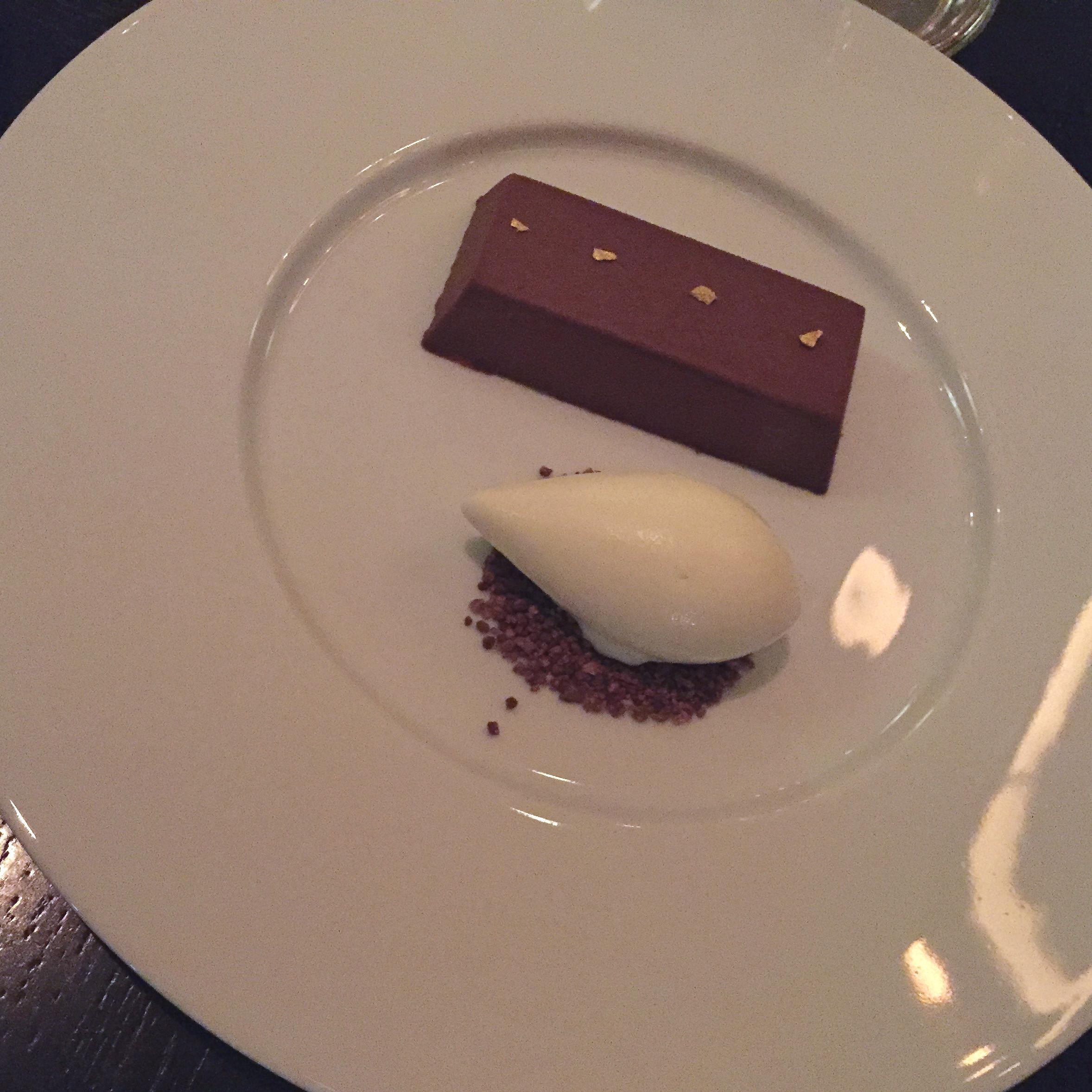 Chocolate Bar (c.1730)Passion fruit jam & ginger ice cream