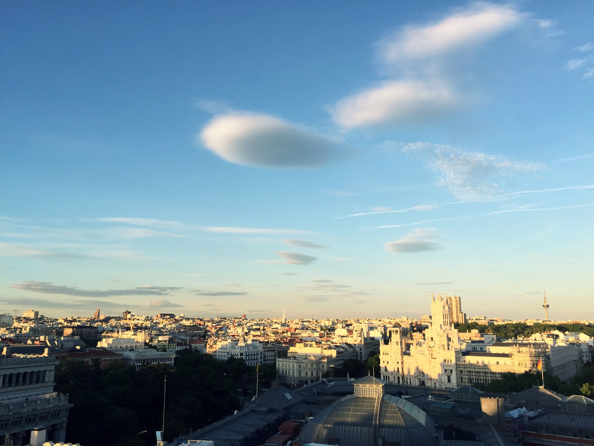 The stunning view from the Circulo de Bellas Artes