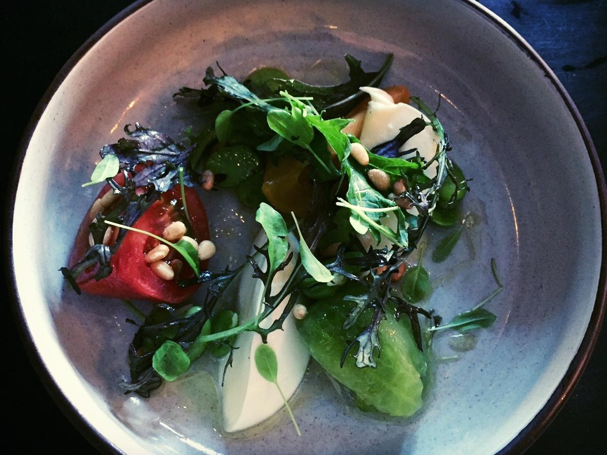 Salad of heirloom tomatoes
