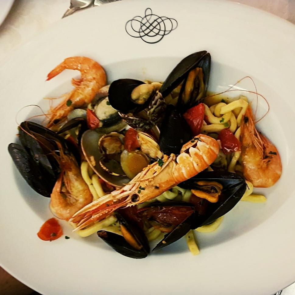 Seafood pasta from Vittoria