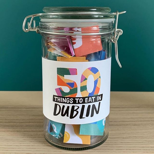 #repost @fiftythingstodo ・・・ We are delighted to announce our new '50 things' jar - this time it's all about eating! There are five categories: Brunch, Sweet treats, Great Value, Splurge and On the go. This is a celebration of the amazing Dublin food scene and once again the jar was designed by our absolute star @fattiburke To get your jar, the link is in our bio 😊 . . . . #dublin #ireland #thingstodoindublin #fiftythingstodoindublin #fiftythingstodo #food #foodporn #fooddublin #fiftythingstoeatindublin #dublinfood #dublinfoodguide