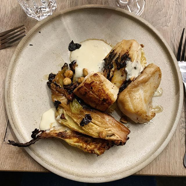Had this on Monday night in @kai_galway : monkfish, hispi, parsnip and hazelnuts. Never thought cabbage could be so tasty. . . . . #kaigalway #irishfood #monkfish #hispi #foodporn #myplate #galway #meatlessmonday #fish #lefooding