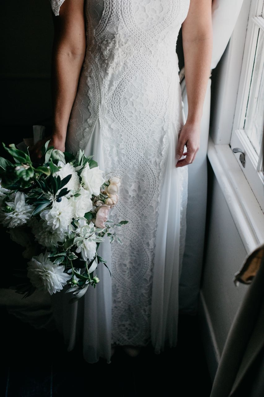 Bouquet and THAT dress