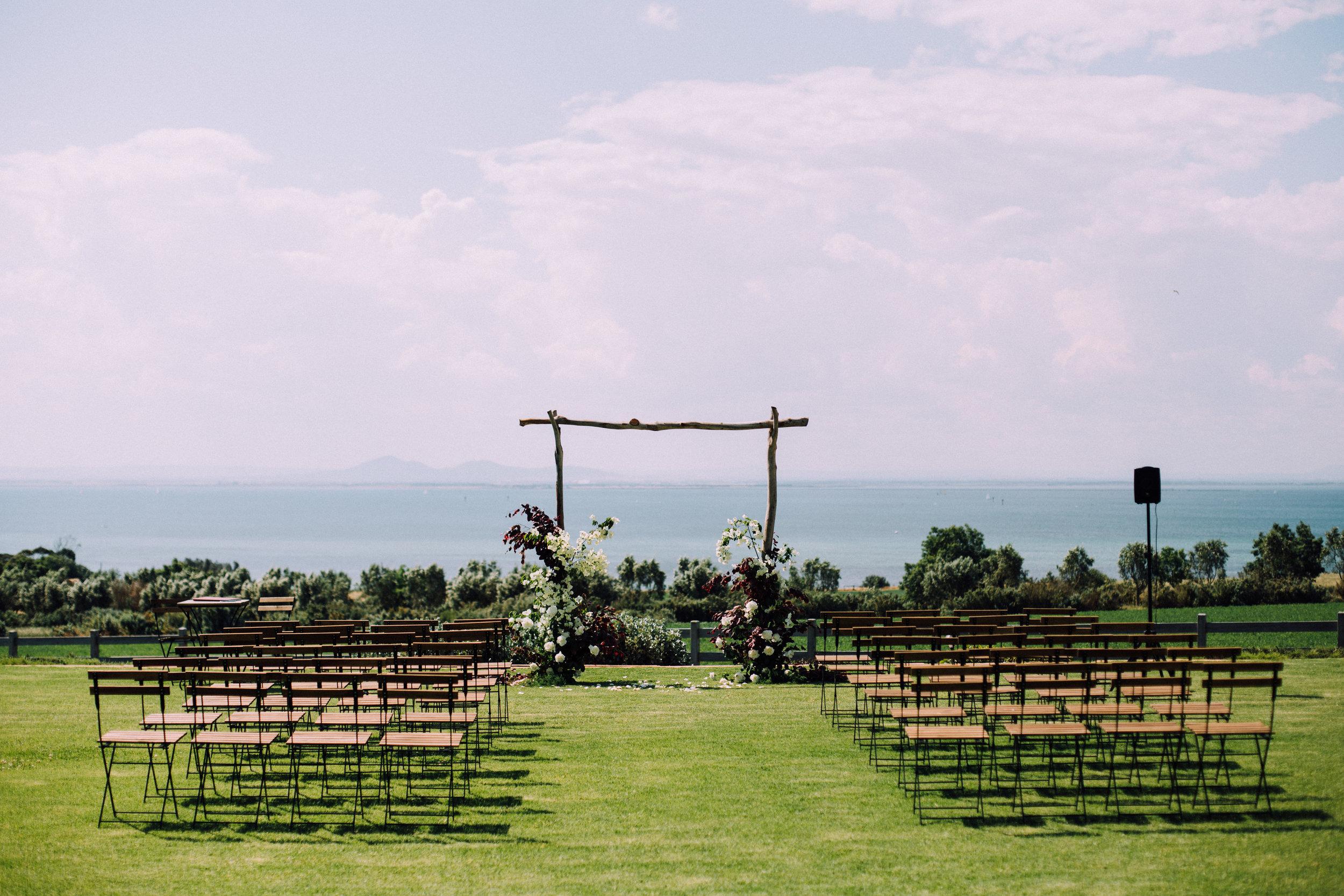 Jess + James Coastal Romance Arch