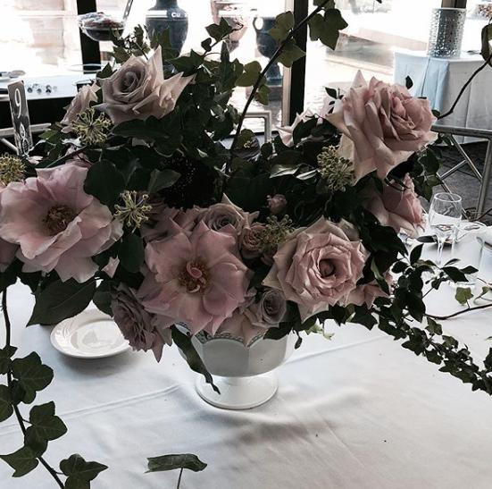 Tamina + Weis Whimsical Trailing Garden Flower Arrangement