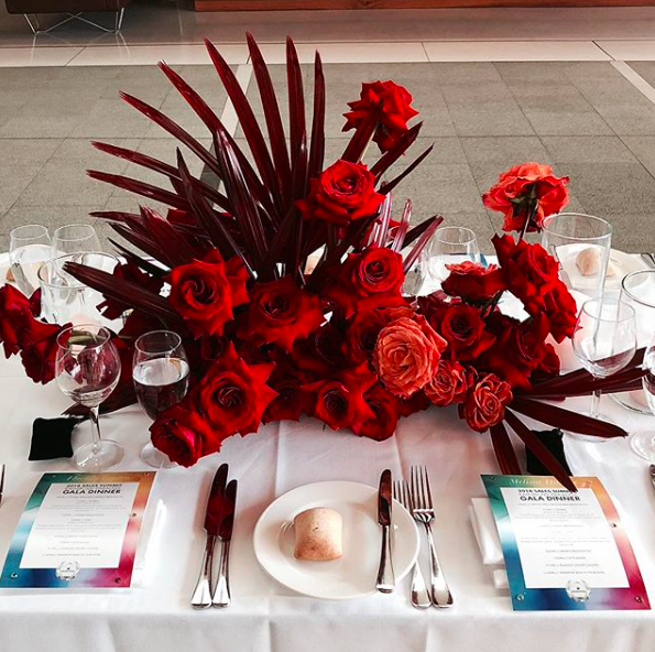 Swarovski Fireworks National Portrait Gallery Red Tablescape