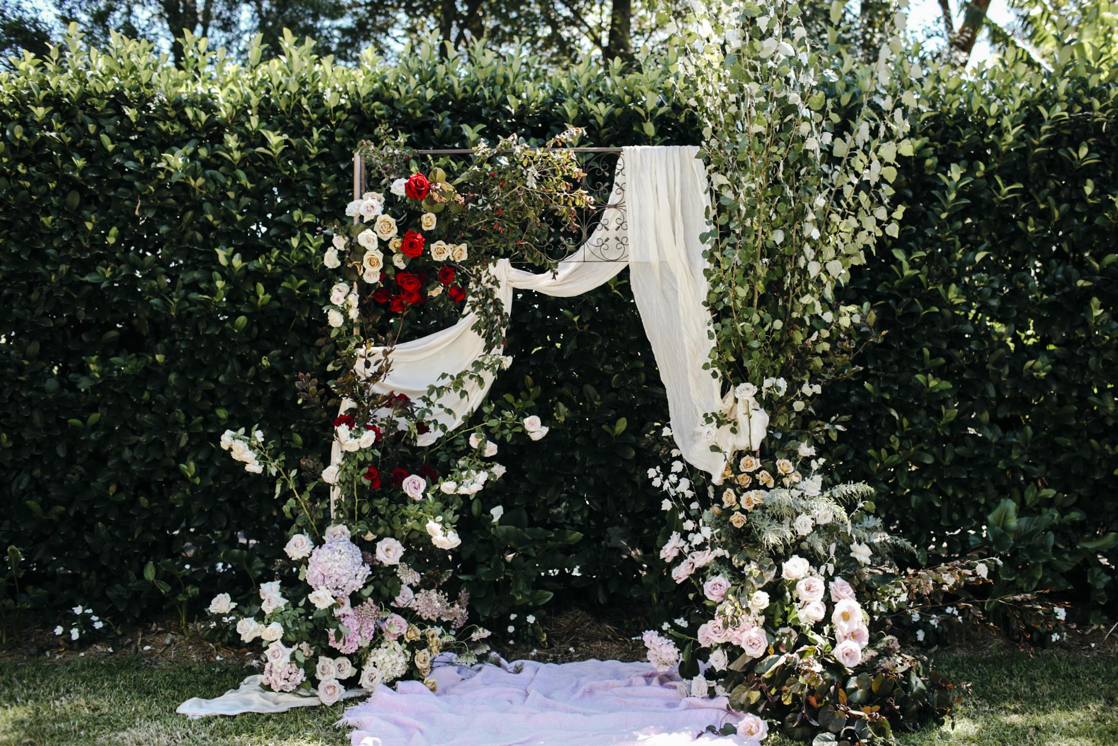 Amelia + Jono Secret Garden Wedding Merribee Arbour