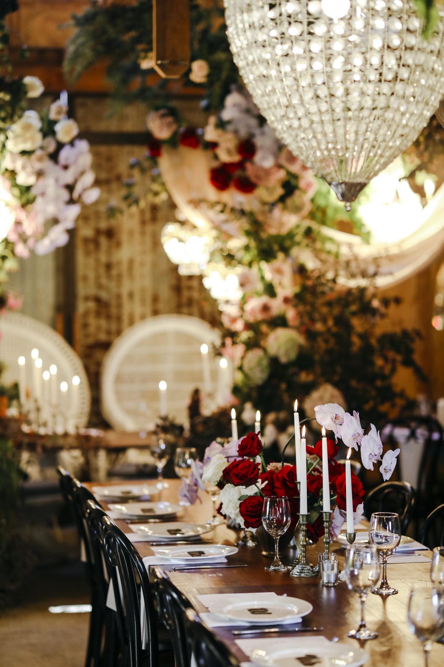 Amelia + Jono Secret Garden Wedding Tablescape dreams