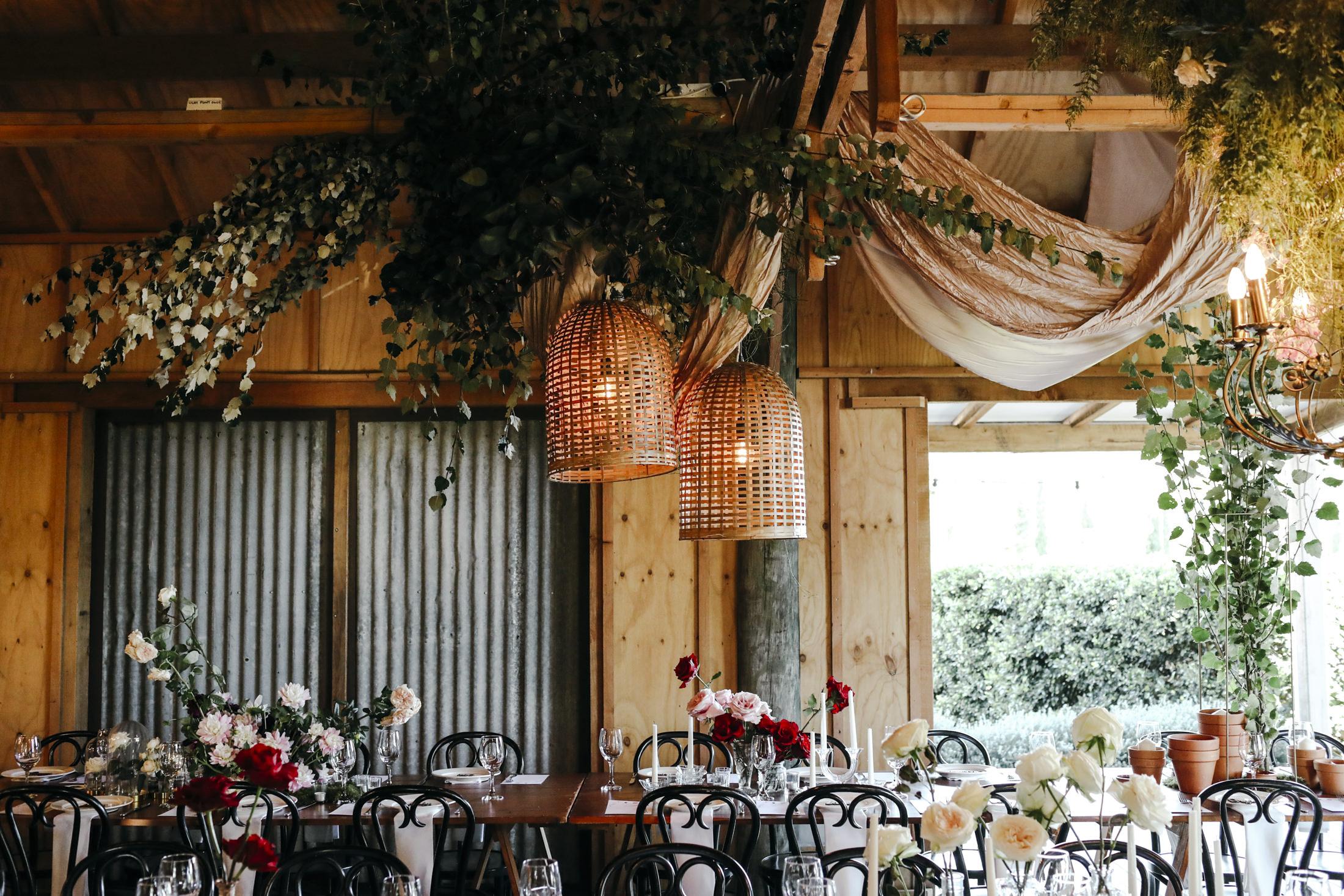 Amelia + Jono Secret Garden Tablescapes Merribee