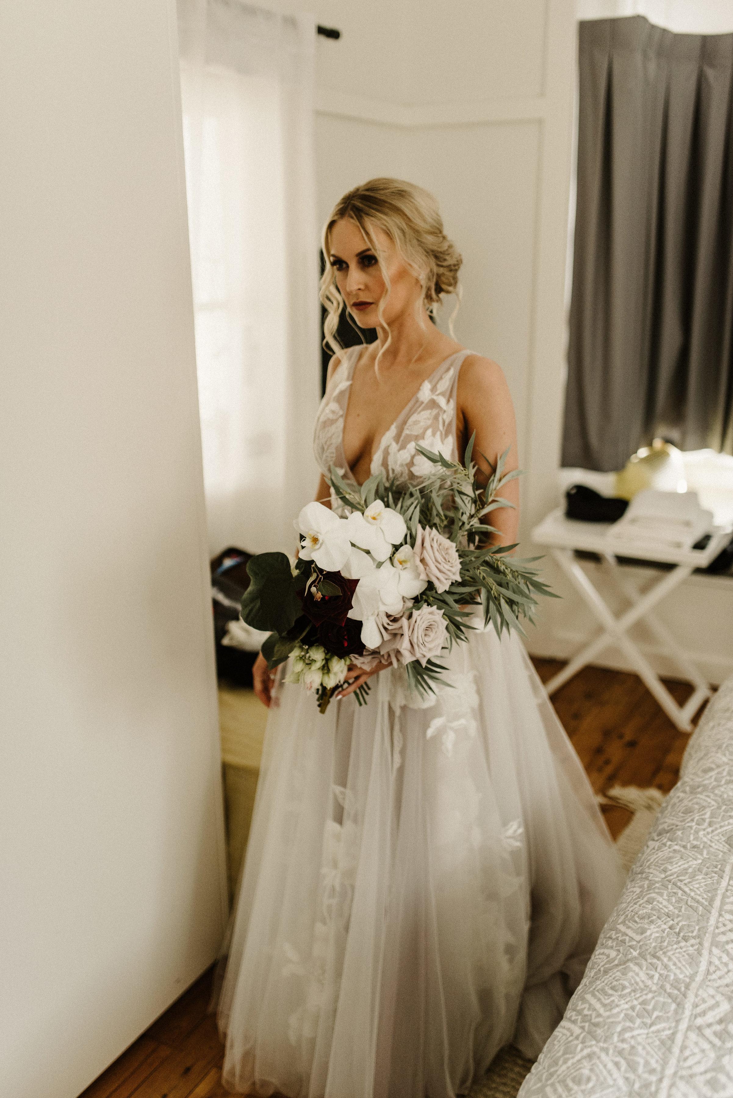 Tess + Greg Bohemian Native Luxe bride